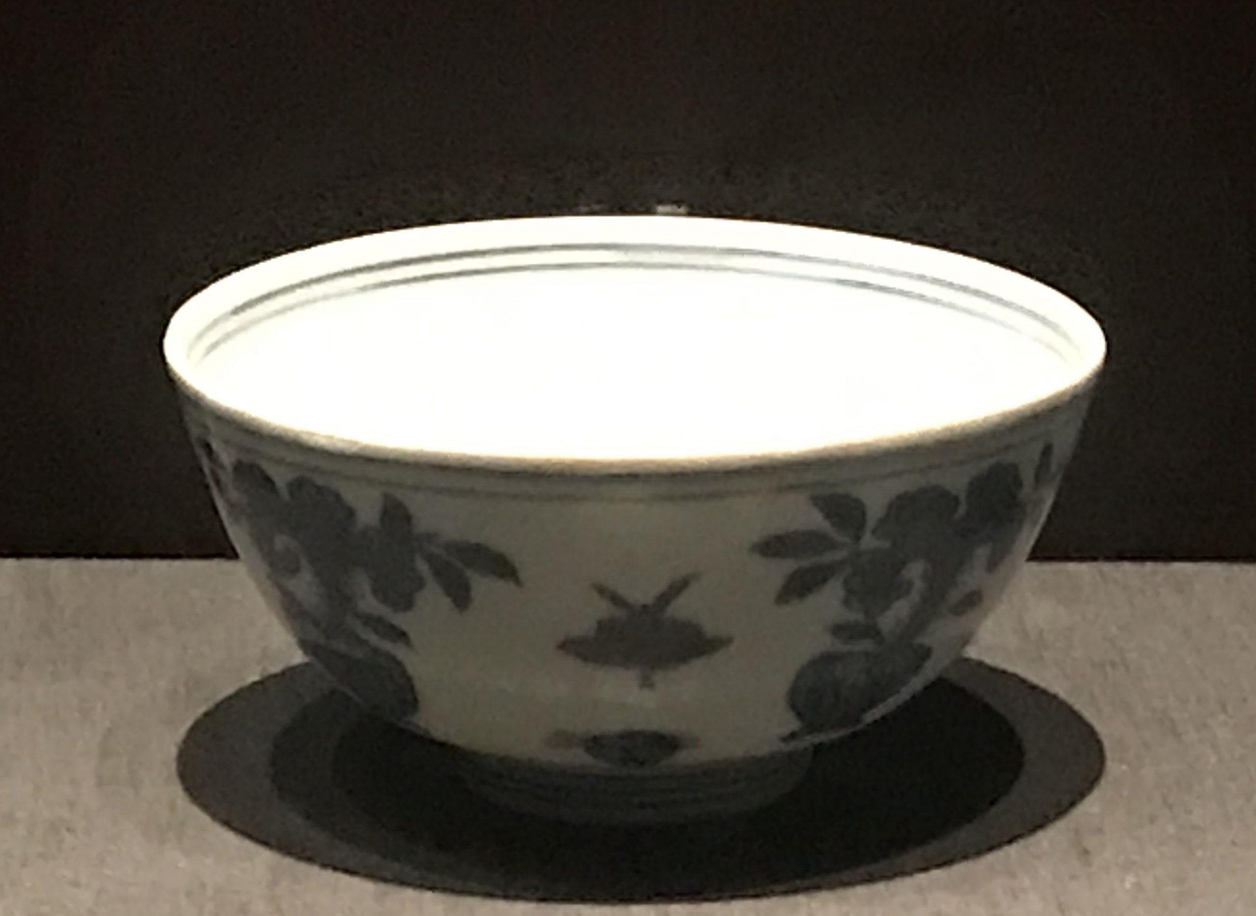 青花花蝶紋磁碗-明清時代-常設展F3-成都博物館