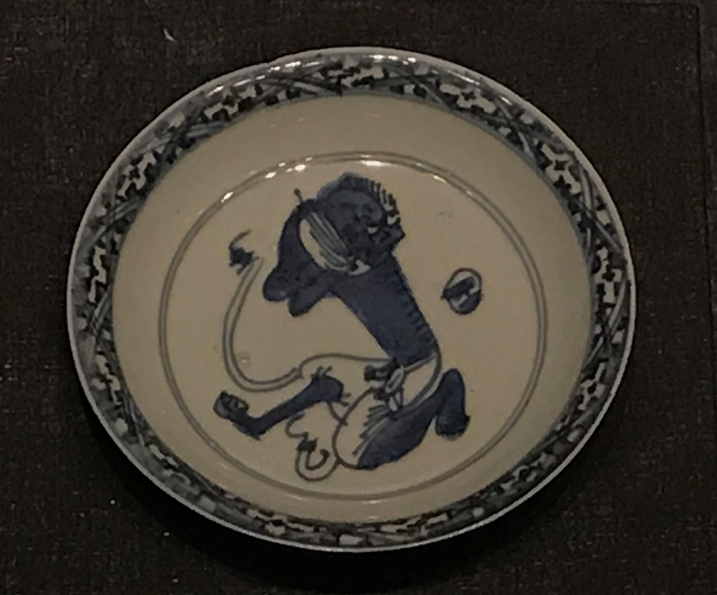 青花魁星紋磁盤-明清時代-常設展F3-成都博物館