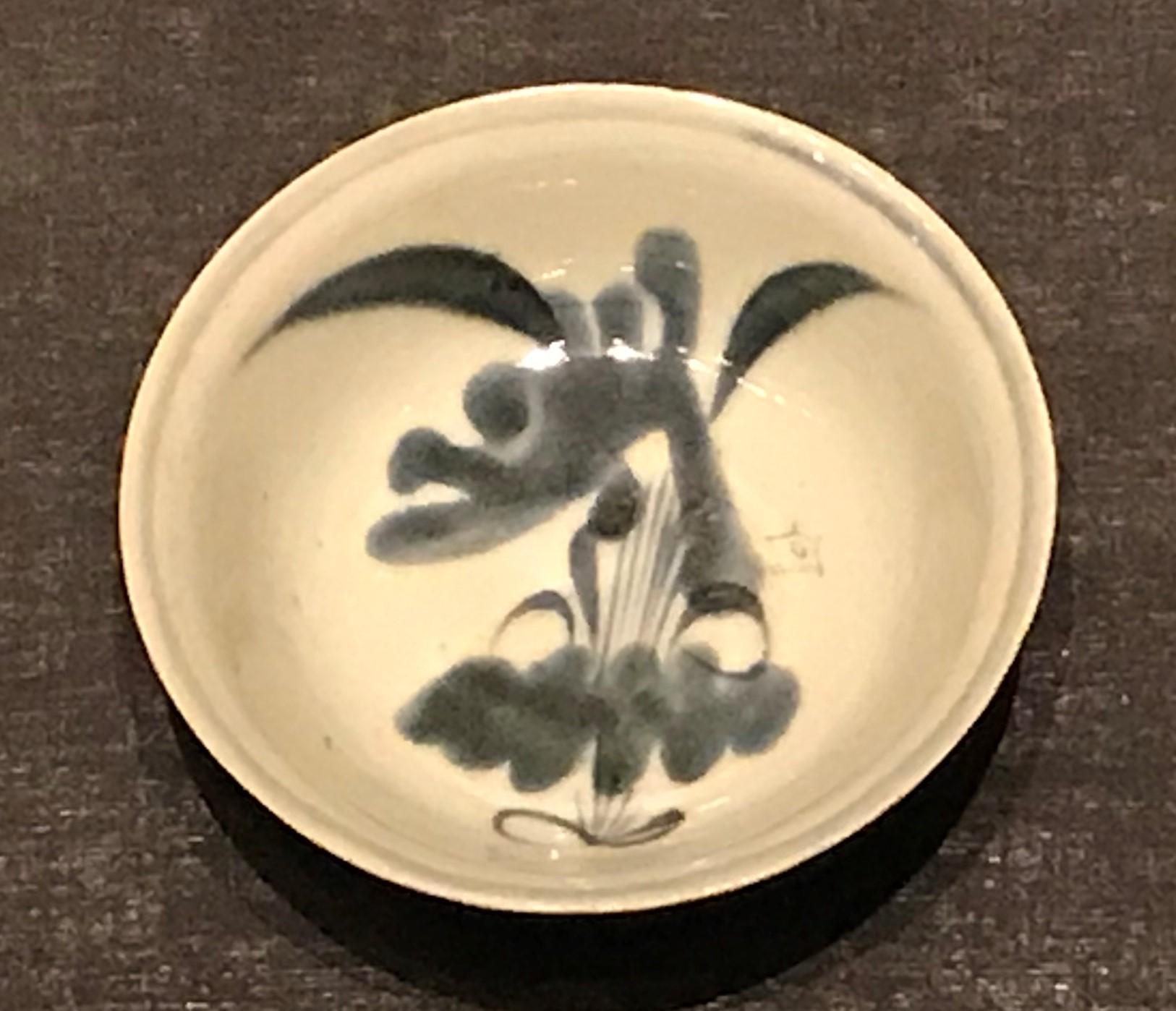 青花花草紋磁碗-明清時代-常設展F3-成都博物館