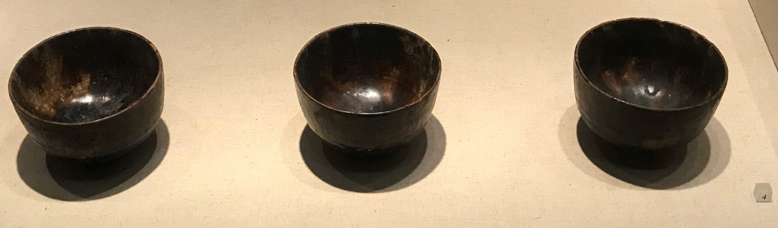 醬釉磁銚子-帯流銅壺-玳瑁紋磁碗-黒釉磁盞-隋唐五代宋元時代-常設展F3-成都博物館