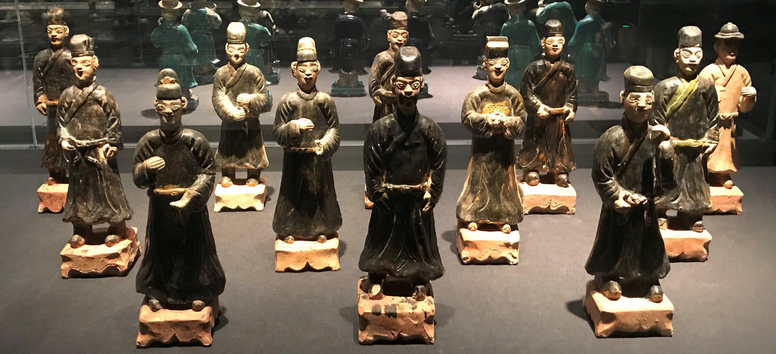 彩釉陶侍從俑3-明清時代-常設展F3-成都博物館