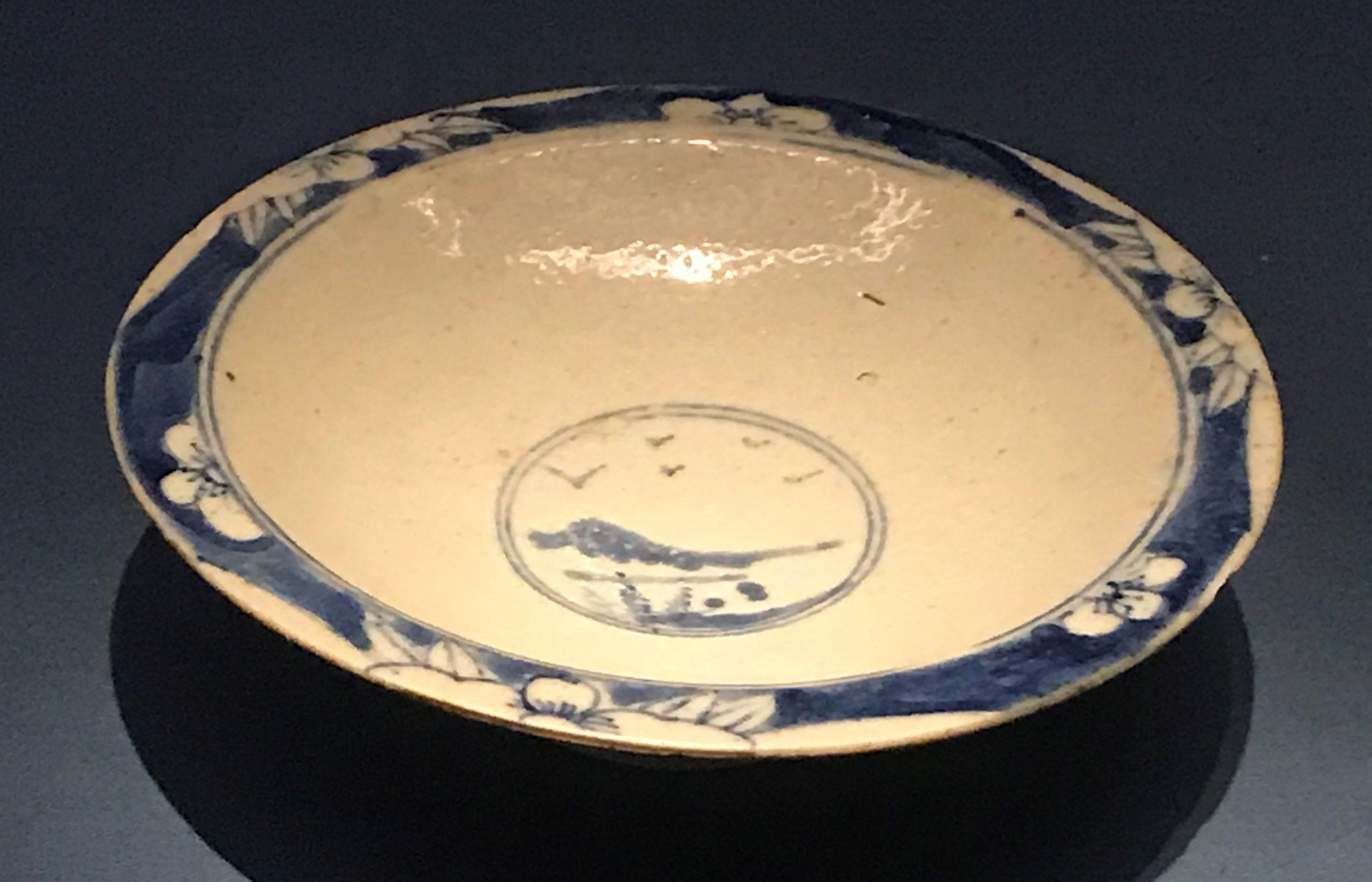 青花高足磁盤-明清時代-常設展F3-成都博物館