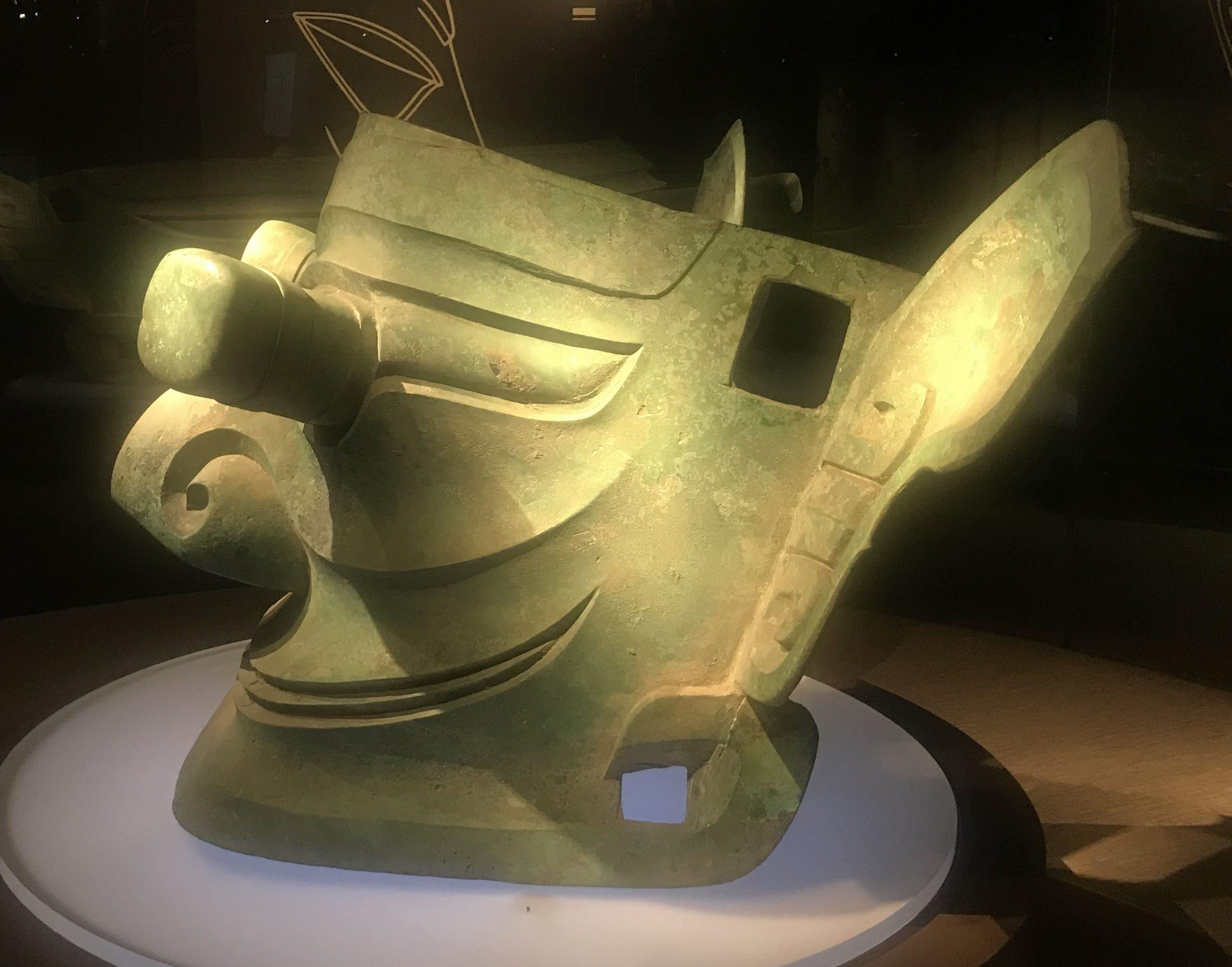 青銅縱目面具-青銅器館-三星堆博物館-広漢市-徳陽市-四川省