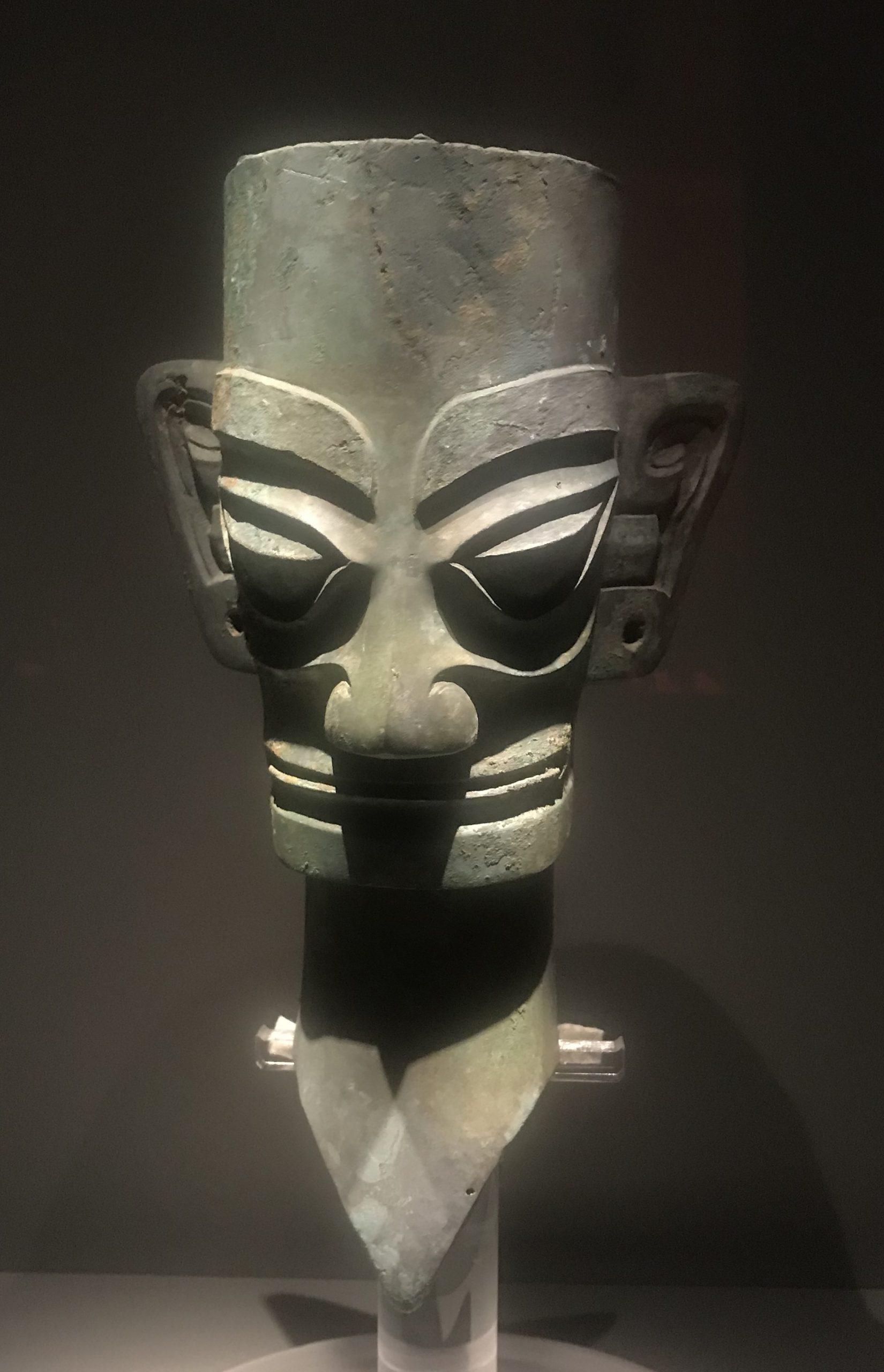 青銅人頭像1-青銅器館-三星堆博物館-広漢市-徳陽市-四川省