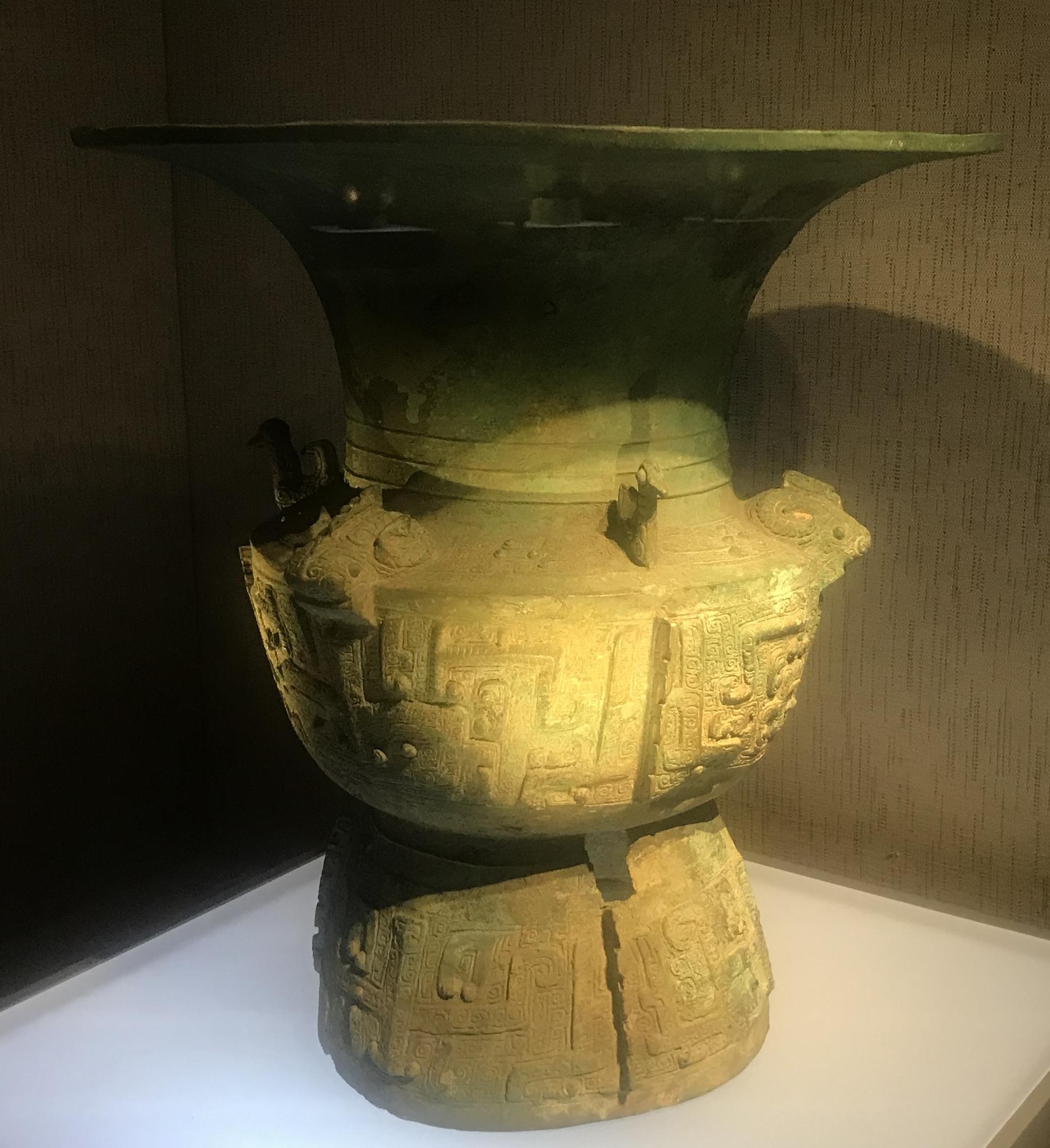 青銅尊(複製品)-青銅器館-三星堆博物館-広漢市-徳陽市-四川省