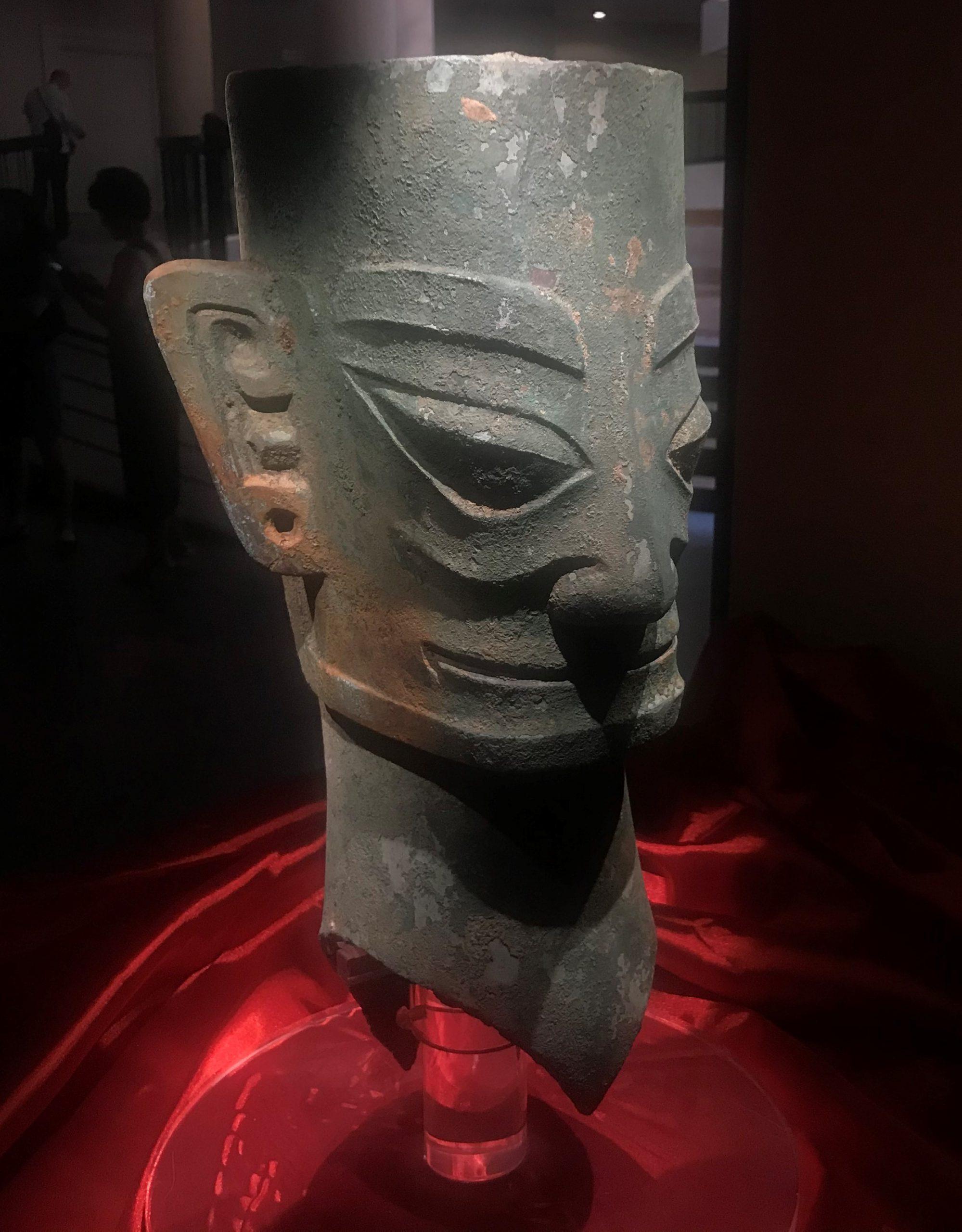青銅人頭像3-青銅器館-三星堆博物館-広漢市-徳陽市-四川省
