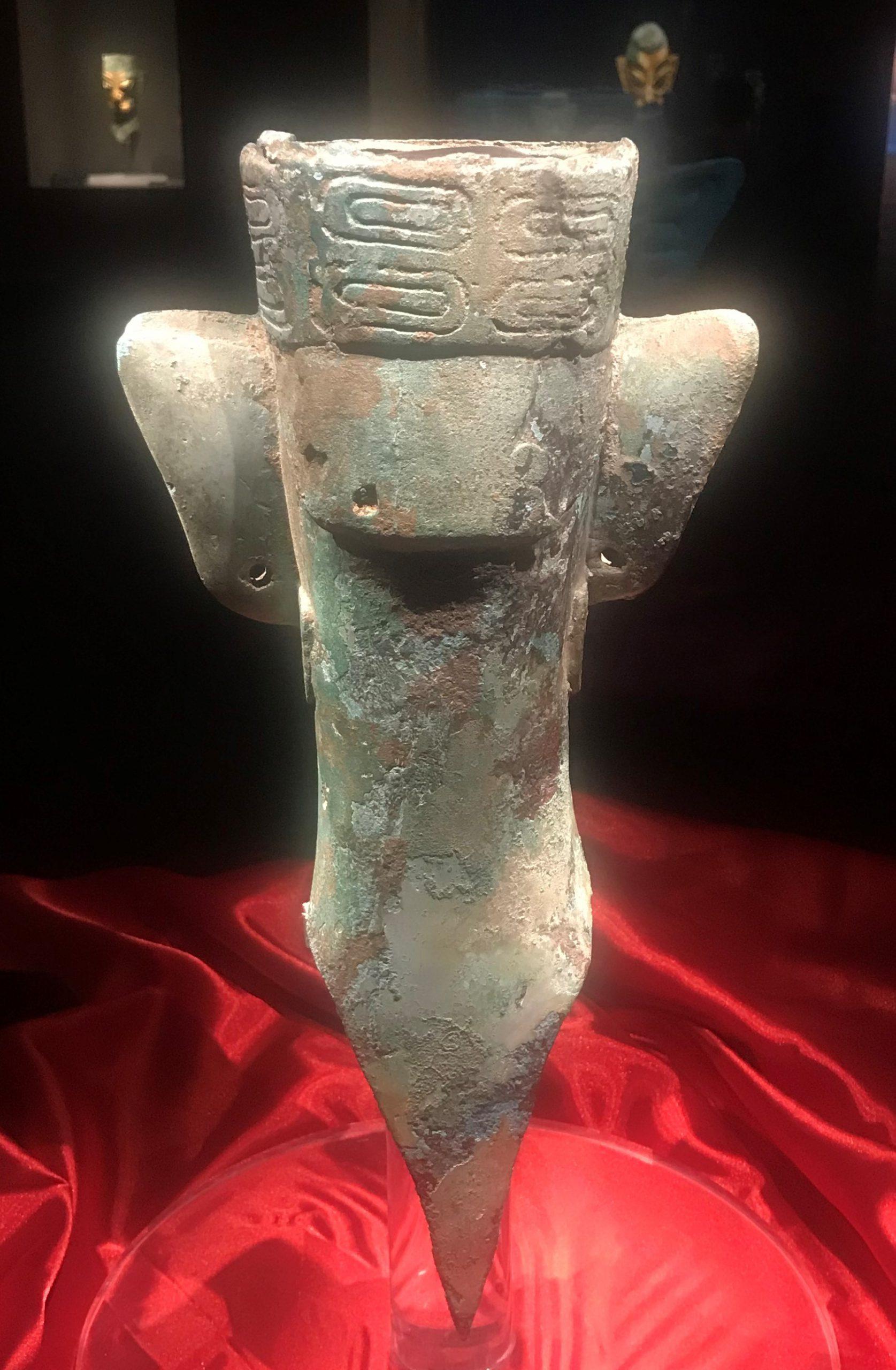 青銅人頭像9-青銅器館-三星堆博物館-広漢市-徳陽市-四川省