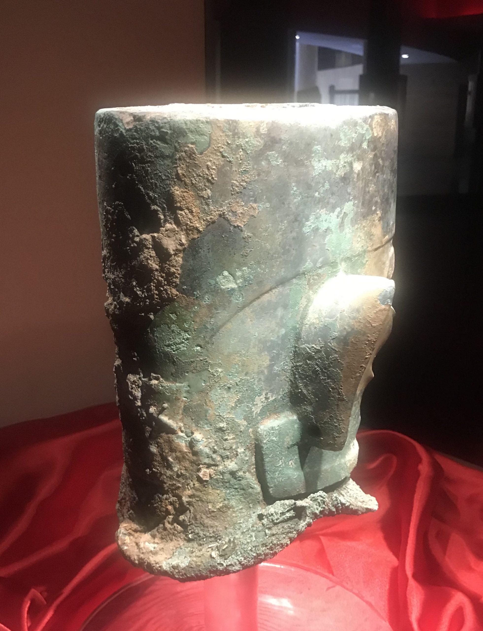青銅人頭像11-青銅器館-三星堆博物館-広漢市-徳陽市-四川省