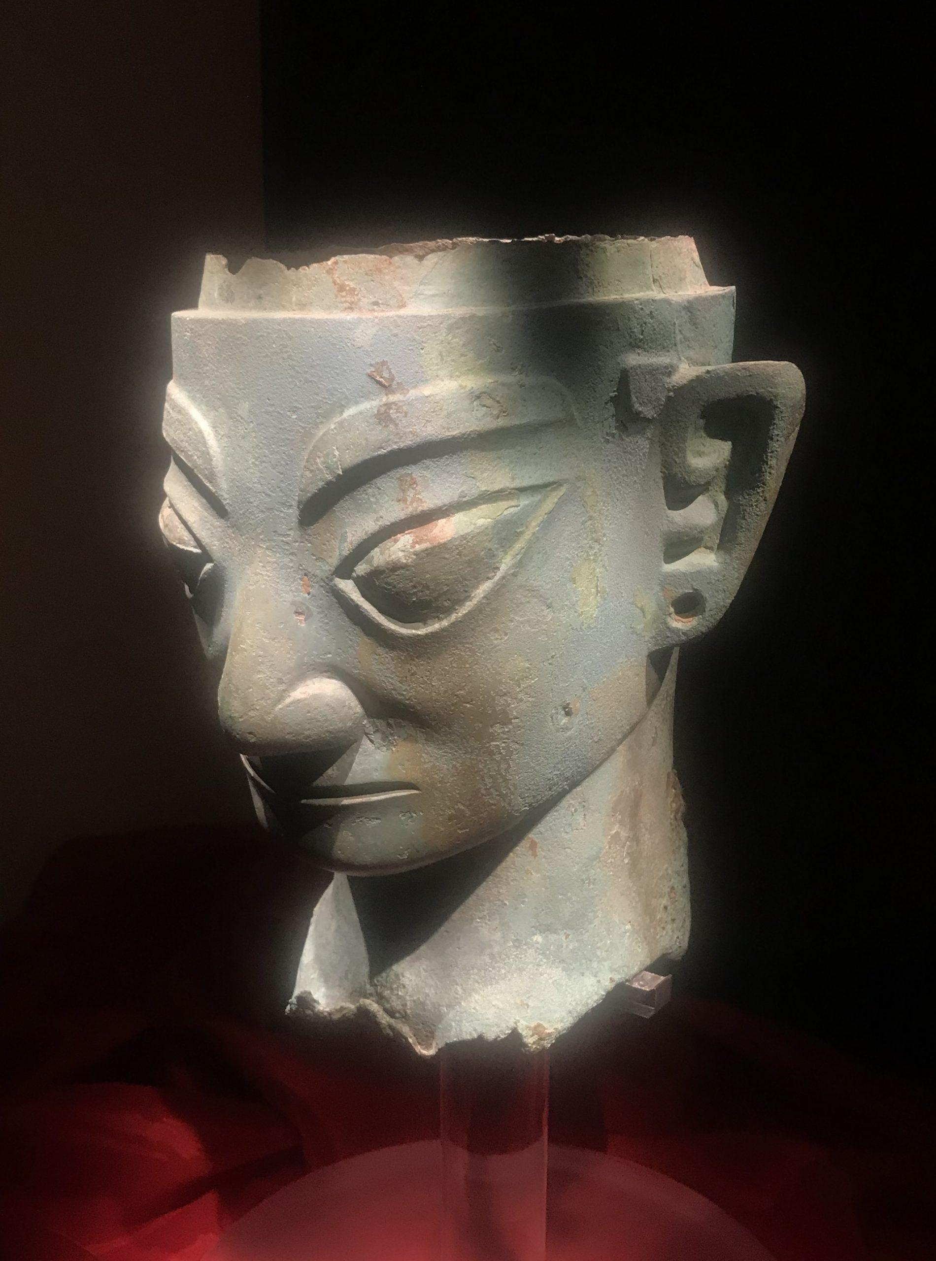 青銅人頭像12-青銅器館-三星堆博物館-広漢市-徳陽市-四川省