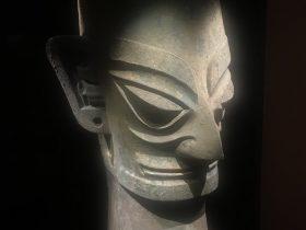 青銅人頭像13-青銅器館-三星堆博物館-広漢市-徳陽市-四川省