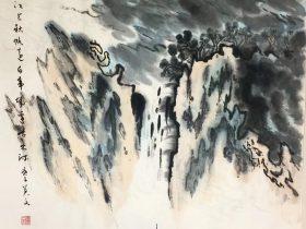 送李少府貶峽中王少府貶長沙-唐代 · 高適-書画:王英文-南山老人