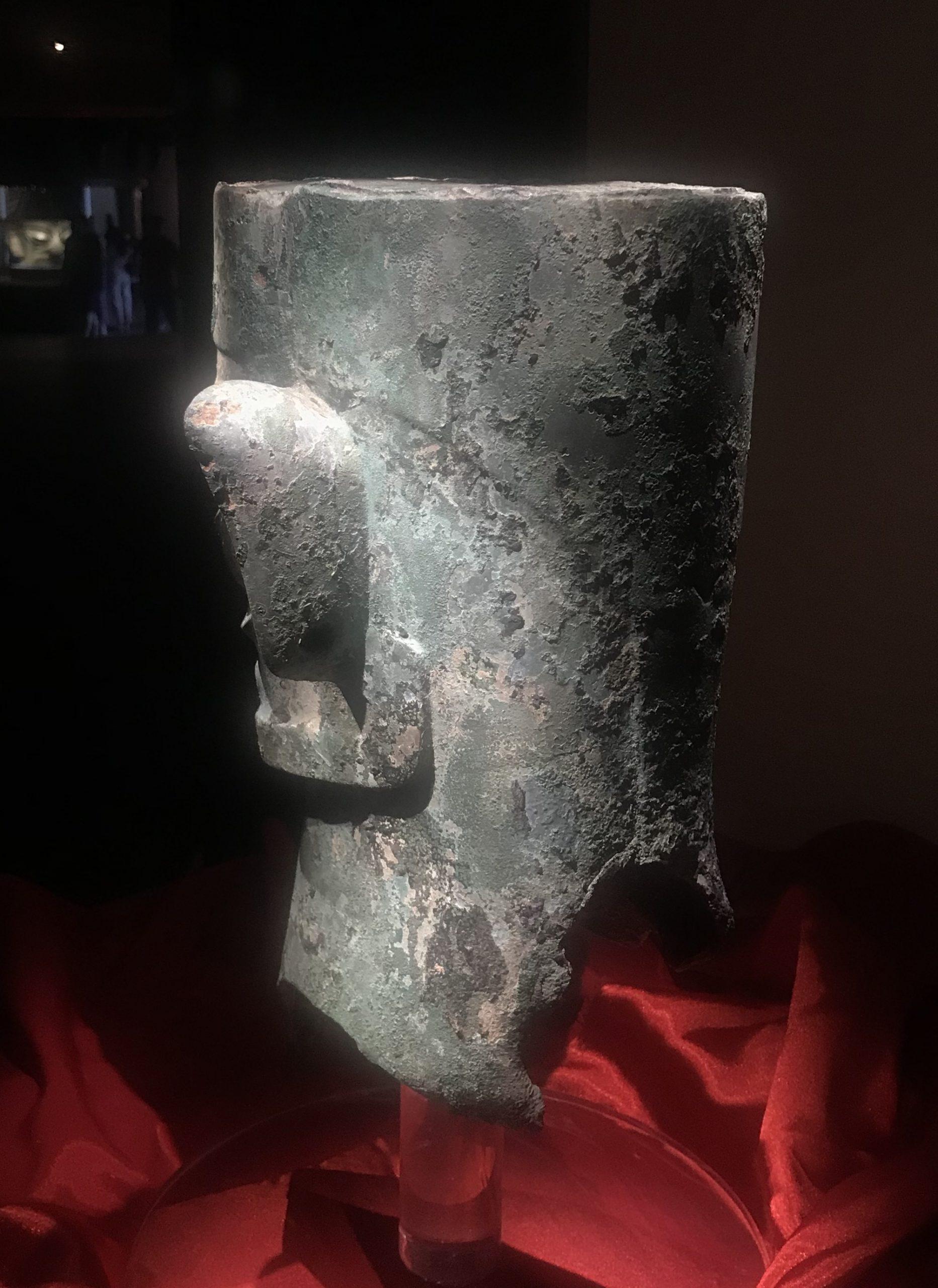 青銅人頭像15-青銅器館-三星堆博物館-広漢市-徳陽市-四川省