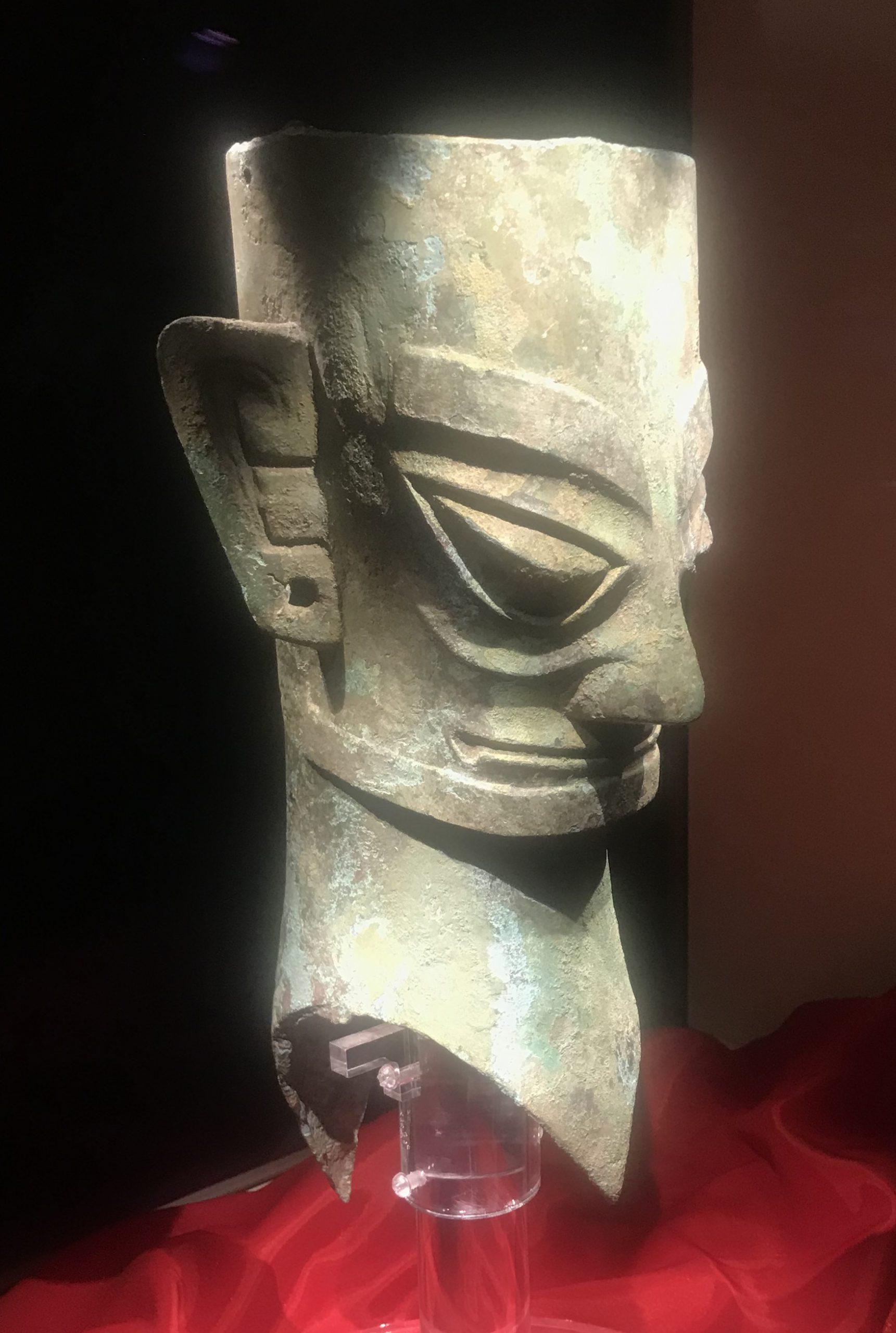 青銅人頭像16-青銅器館-三星堆博物館-広漢市-徳陽市-四川省