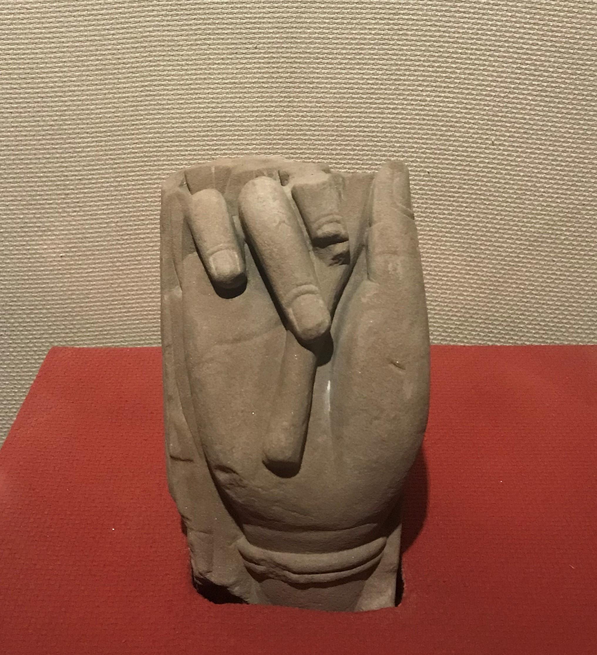 菩薩手-唐期末・五代-四川万仏寺石刻館-四川博物院-成都