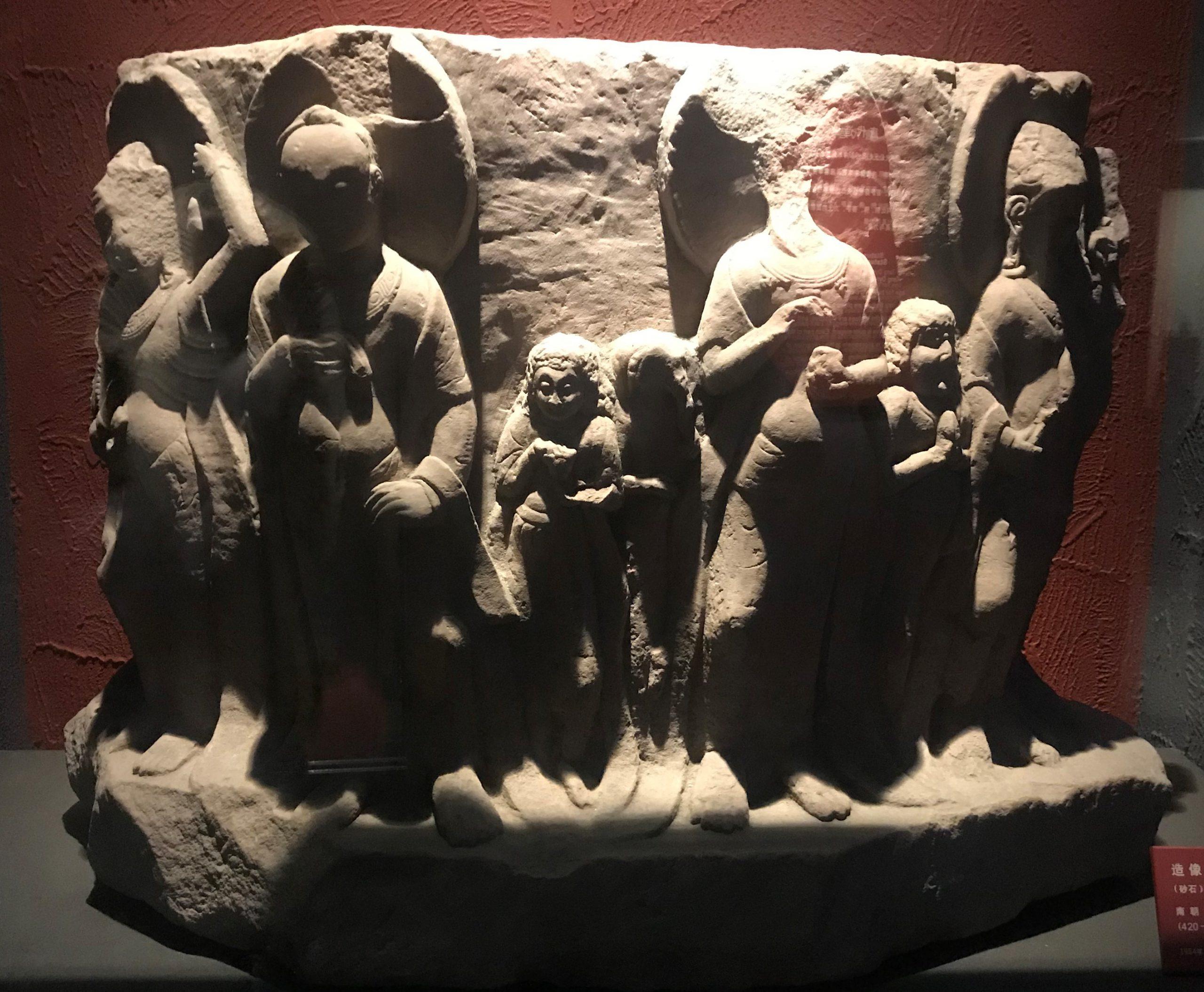 造像碑残座-南朝・梁-万仏寺遺跡-四川万仏寺石刻館-四川博物院-成都