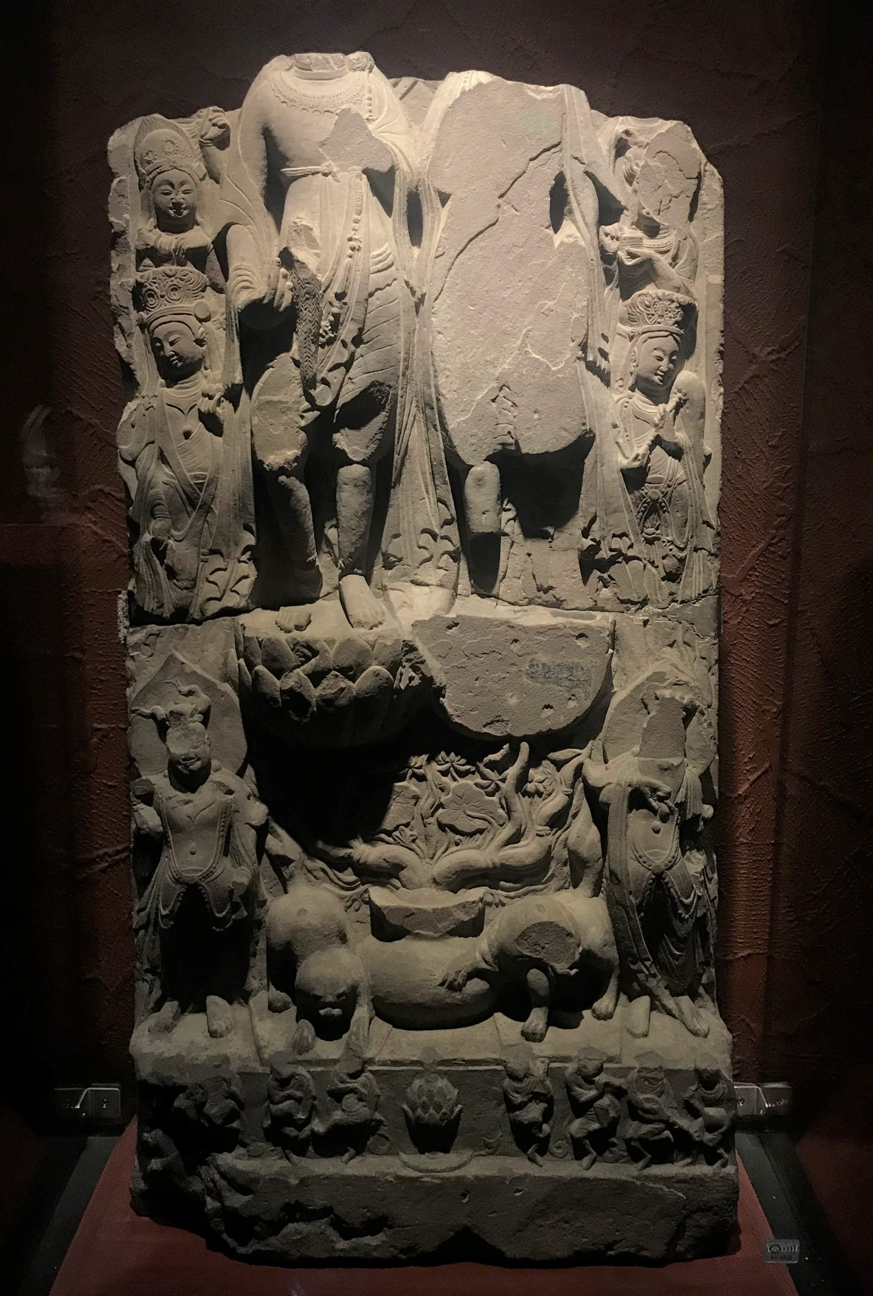 造像碑2-南朝-万仏寺遺跡-四川万仏寺石刻館-四川博物院-成都