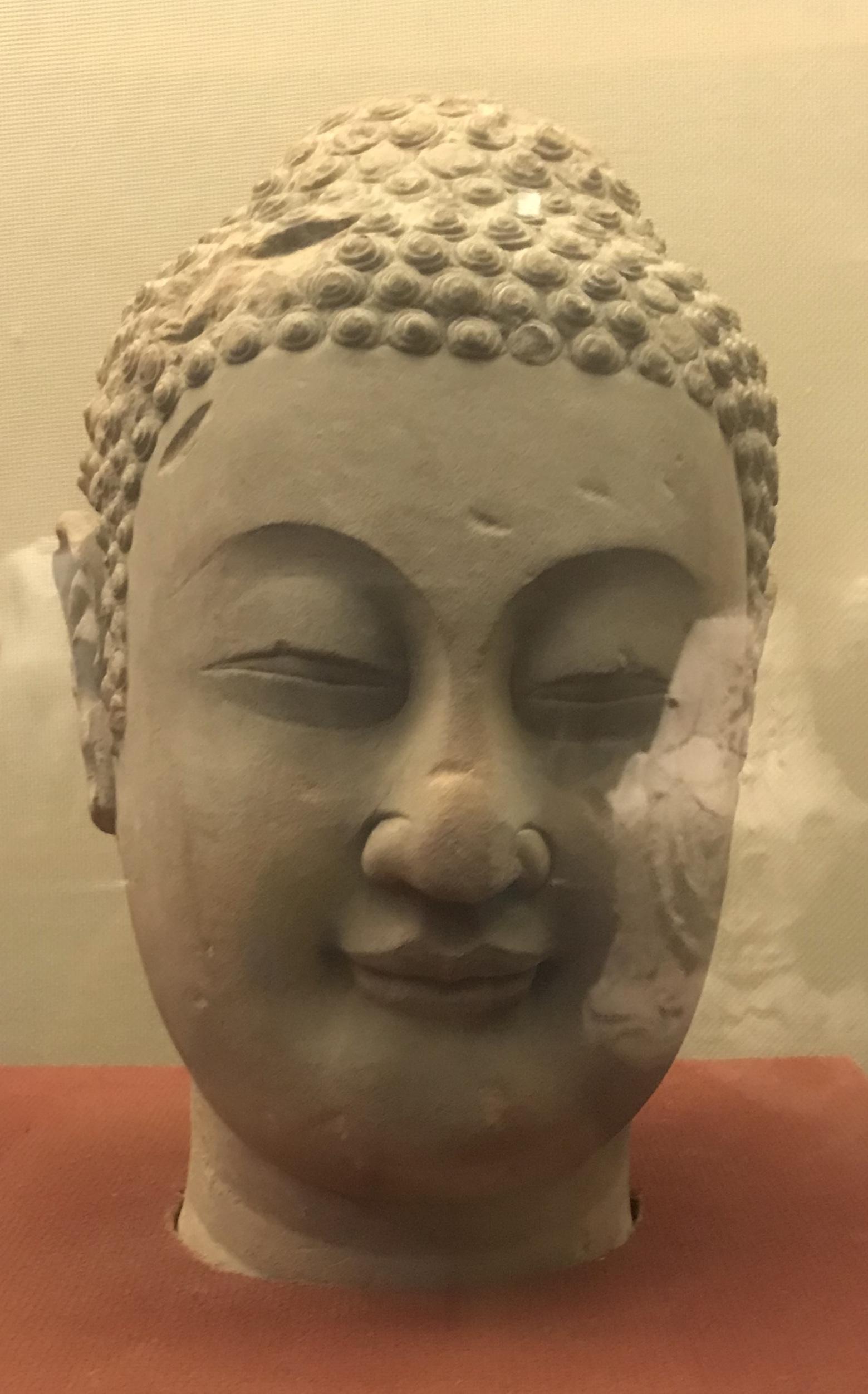 仏頭像5-南北朝-万仏寺遺跡-四川万仏寺石刻館-四川博物院-成都
