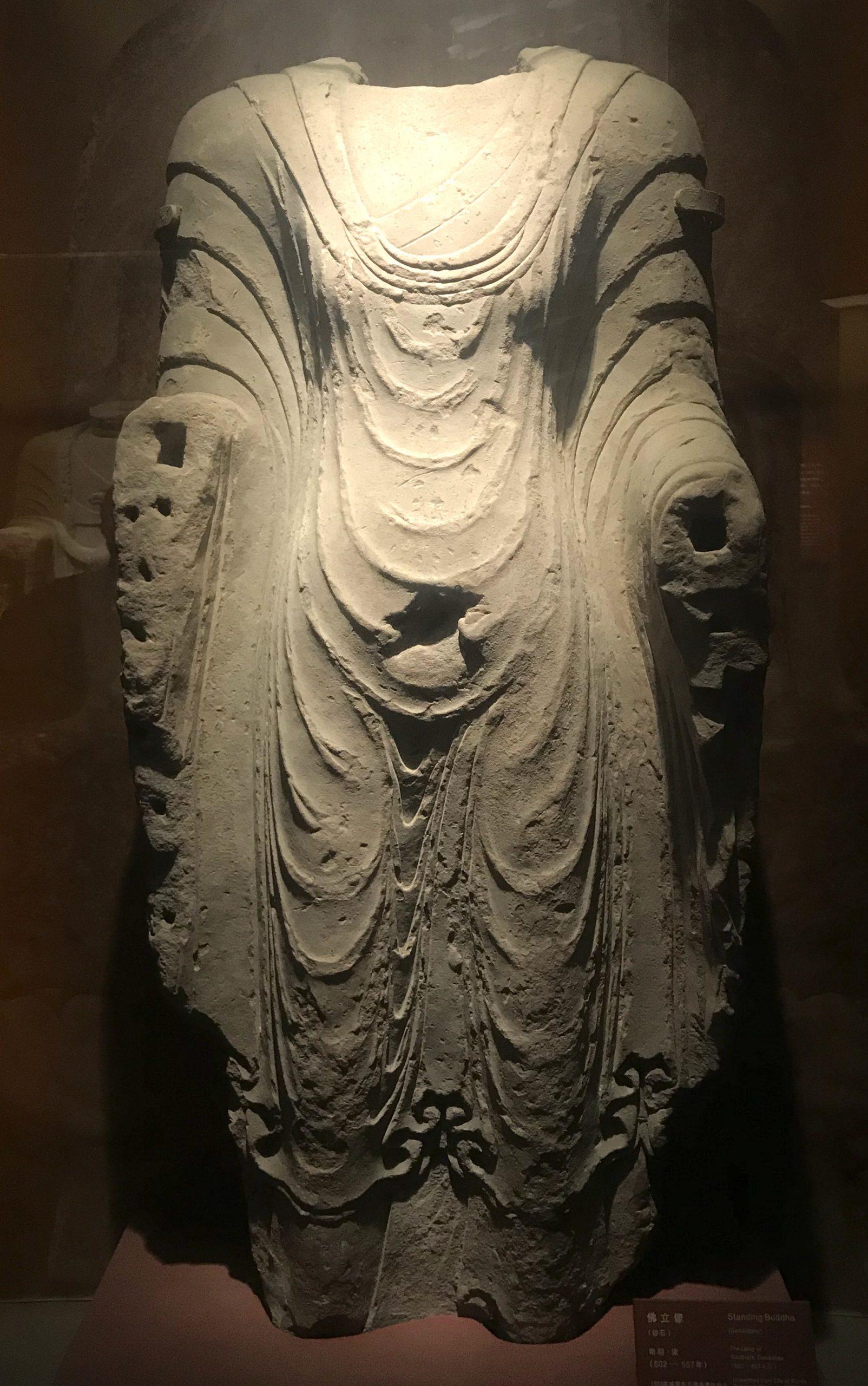 仏立像6-南朝・梁-四川万仏寺石刻館-四川博物院-成都