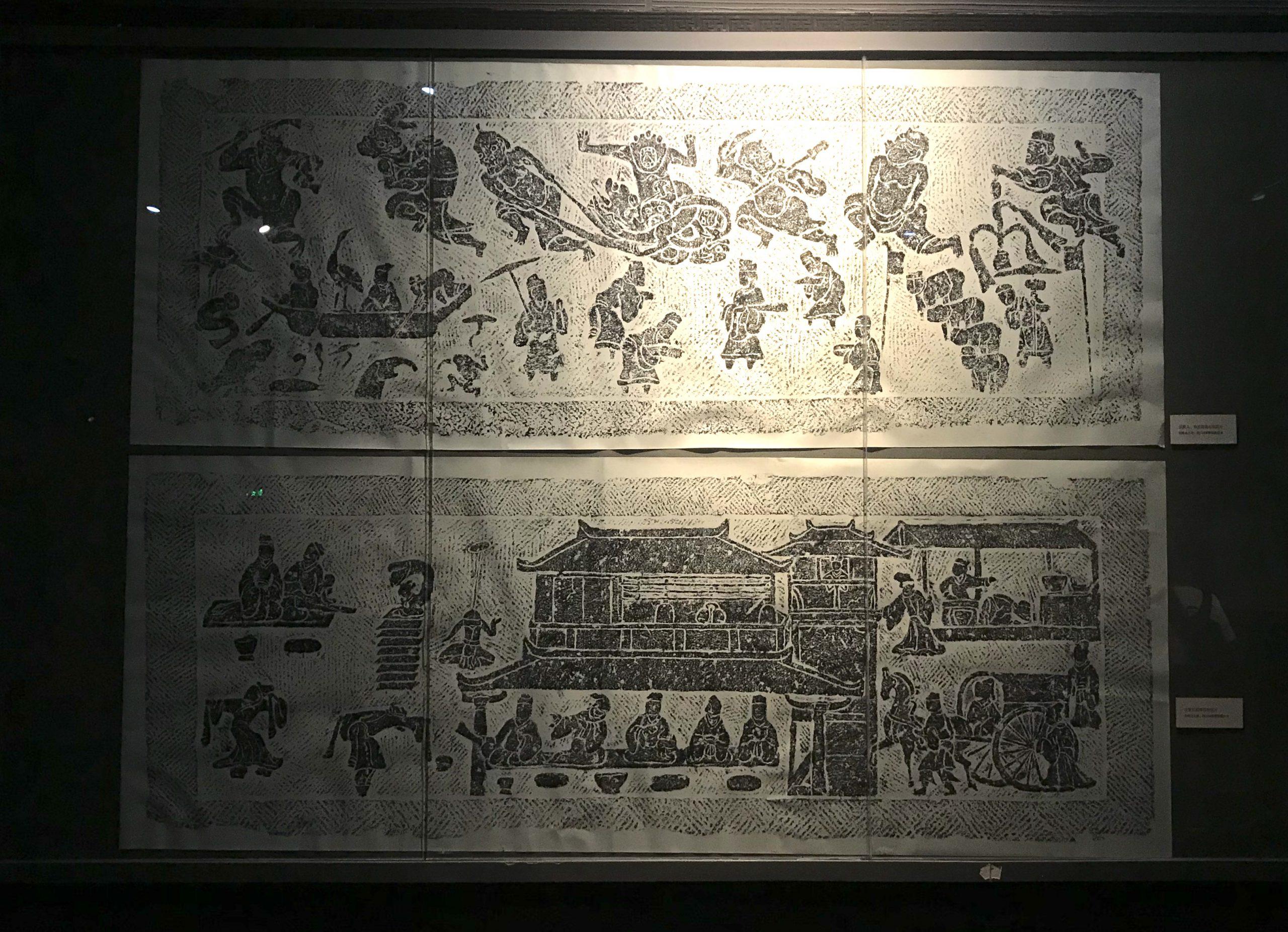 宴飲百戲図石棺-東漢-郫県新勝出土-四川漢代陶石芸術館-四川博物院-成都