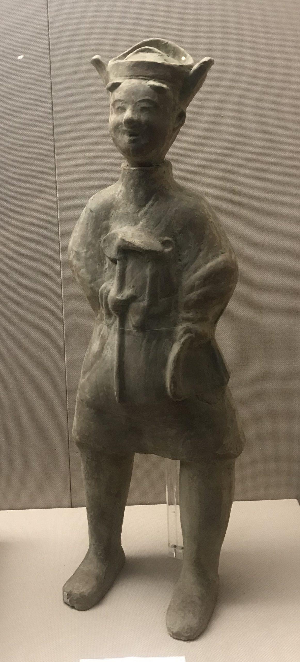 陶執鋤俑-東漢-四川漢代陶石芸術館-四川博物院-成都