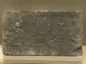 舂米画像レンガ-東漢-彭州市太平-四川漢代陶石芸術館-四川博物院-成都