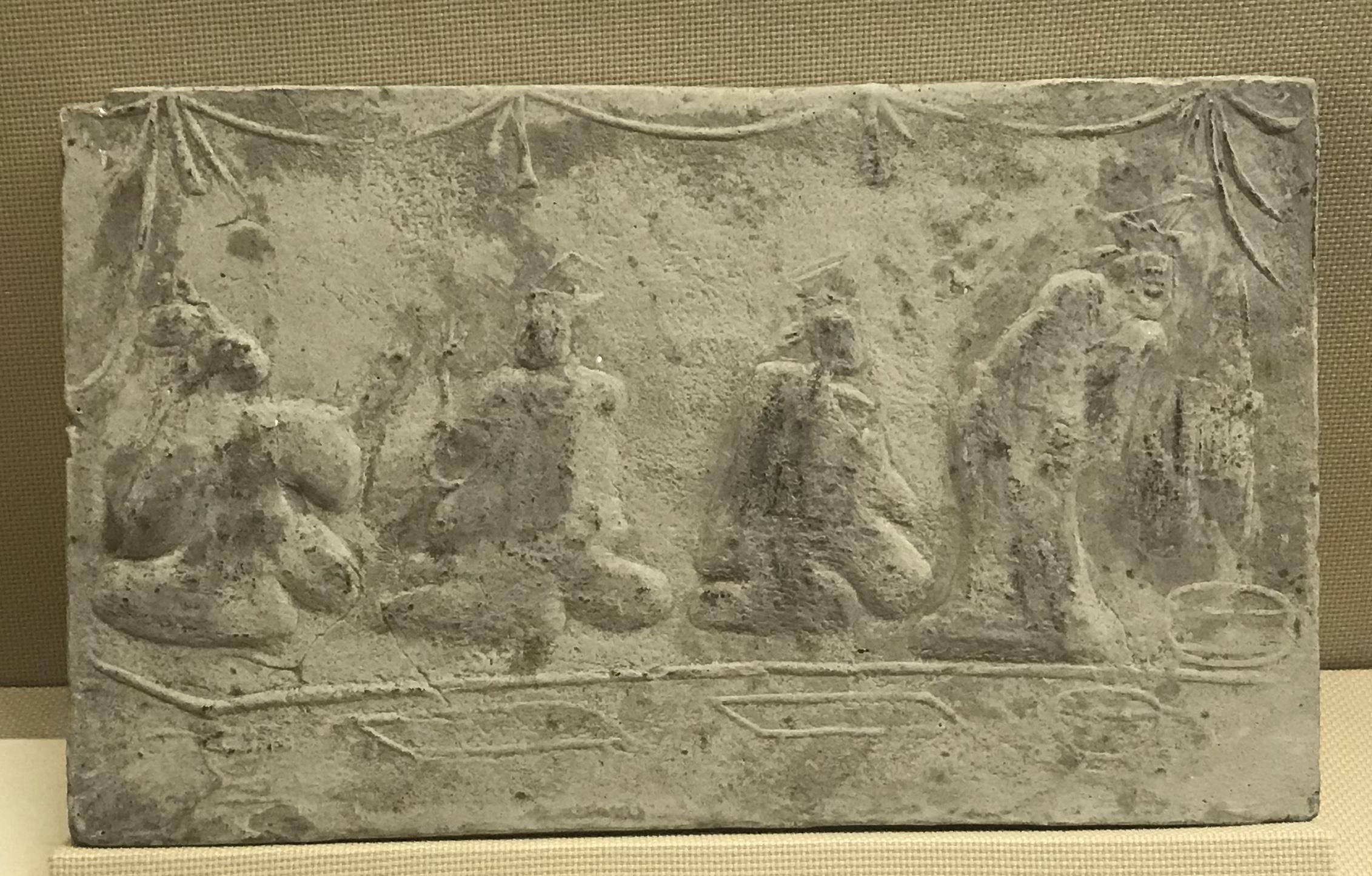 宴飲2画像レンガ-東漢-彭山県太平出土-四川漢代陶石芸術館-四川博物院-成都