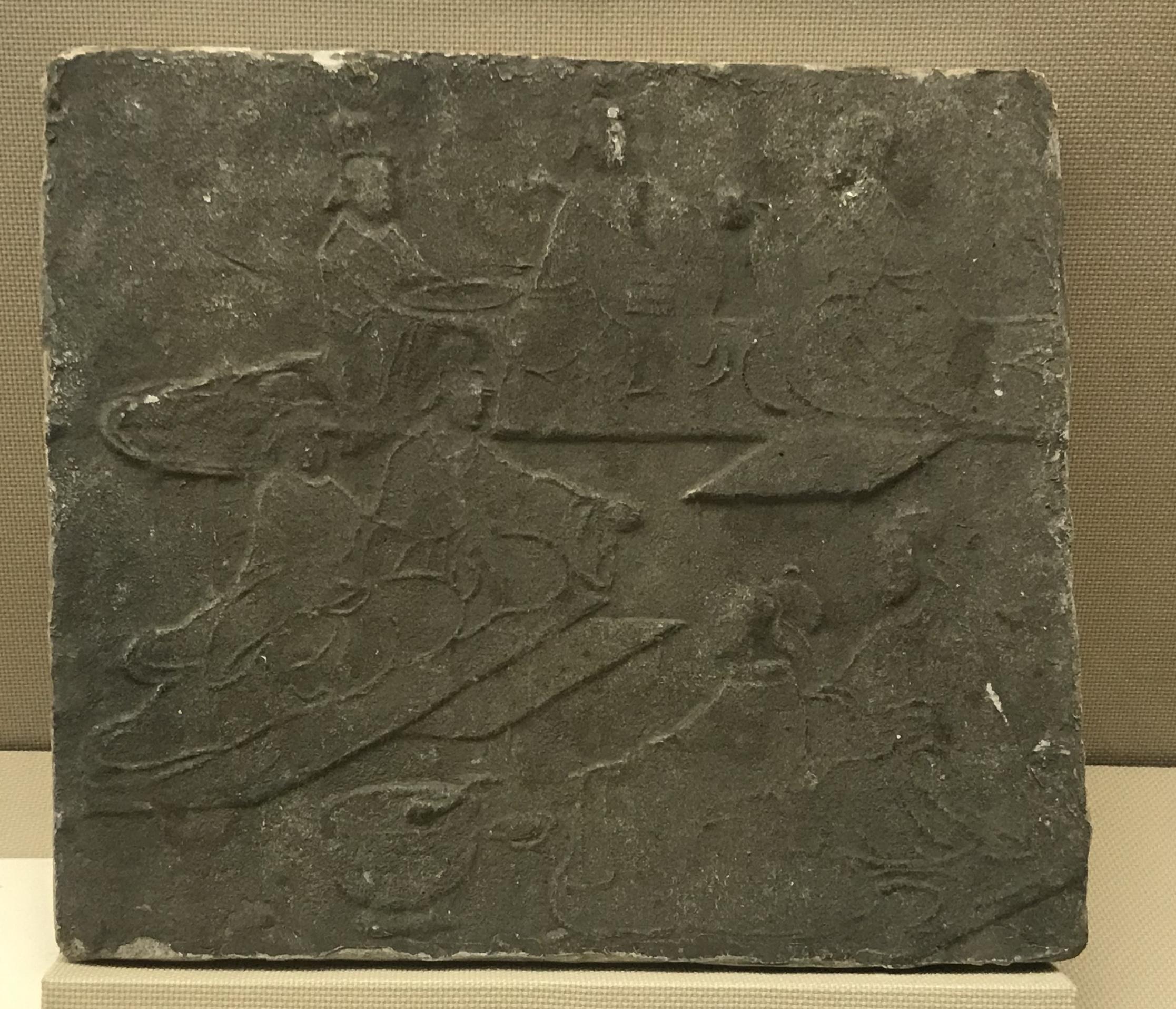 宴飲1画像レンガ-東漢-  大邑県安仁出土-四川漢代陶石芸術館-四川博物院-成都