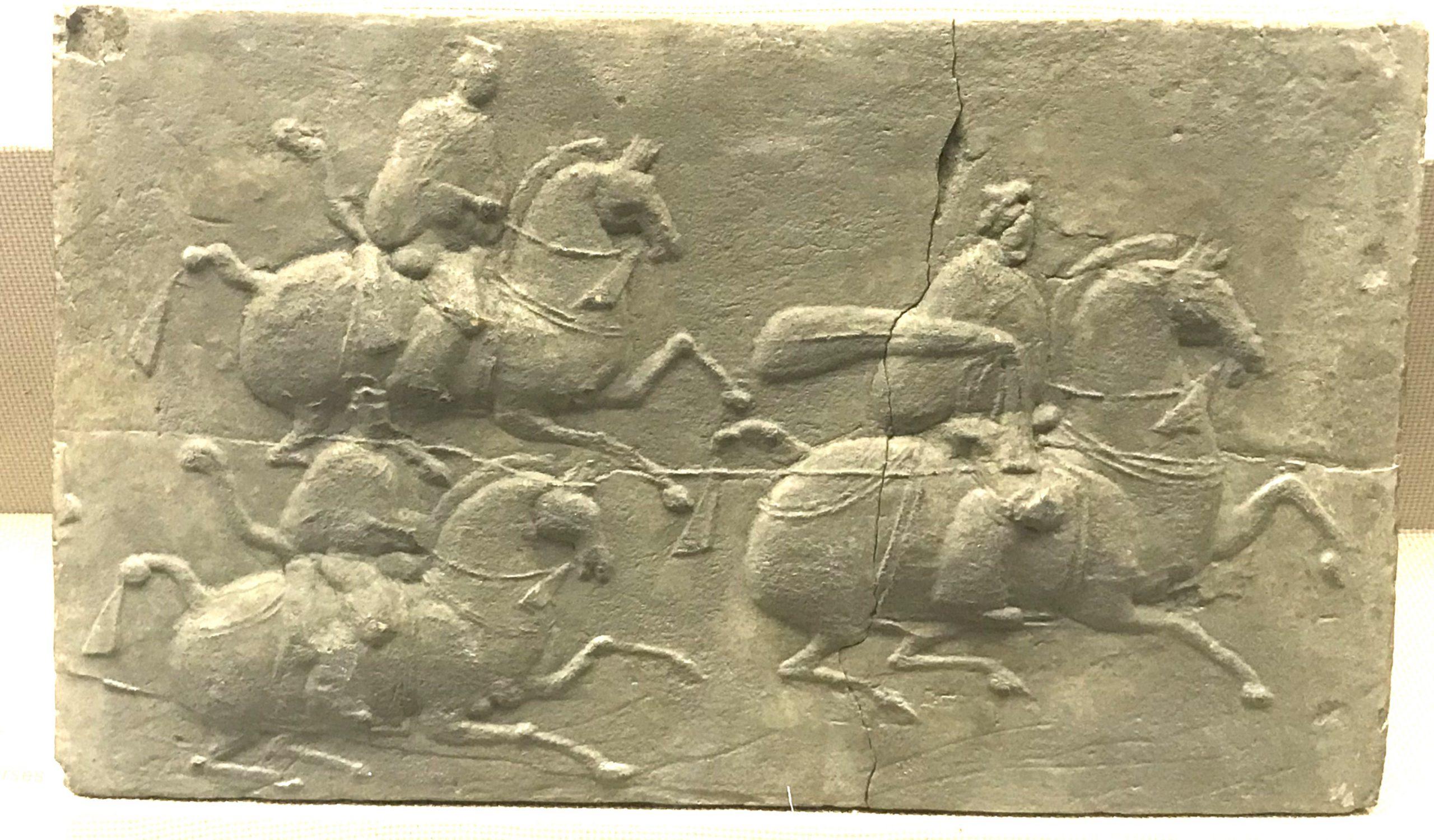 三騎吏画像レンガ-東漢-  彭州市太平出土-四川漢代陶石芸術館-四川博物院-成都