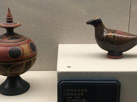 彩絵円形酒壺-鴿形漆酒壺-彜族漆器-四川民族文物館-四川博物館-成都