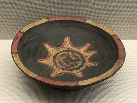 彩絵漆木盤-彜族漆器-四川民族文物館-四川博物館-成都