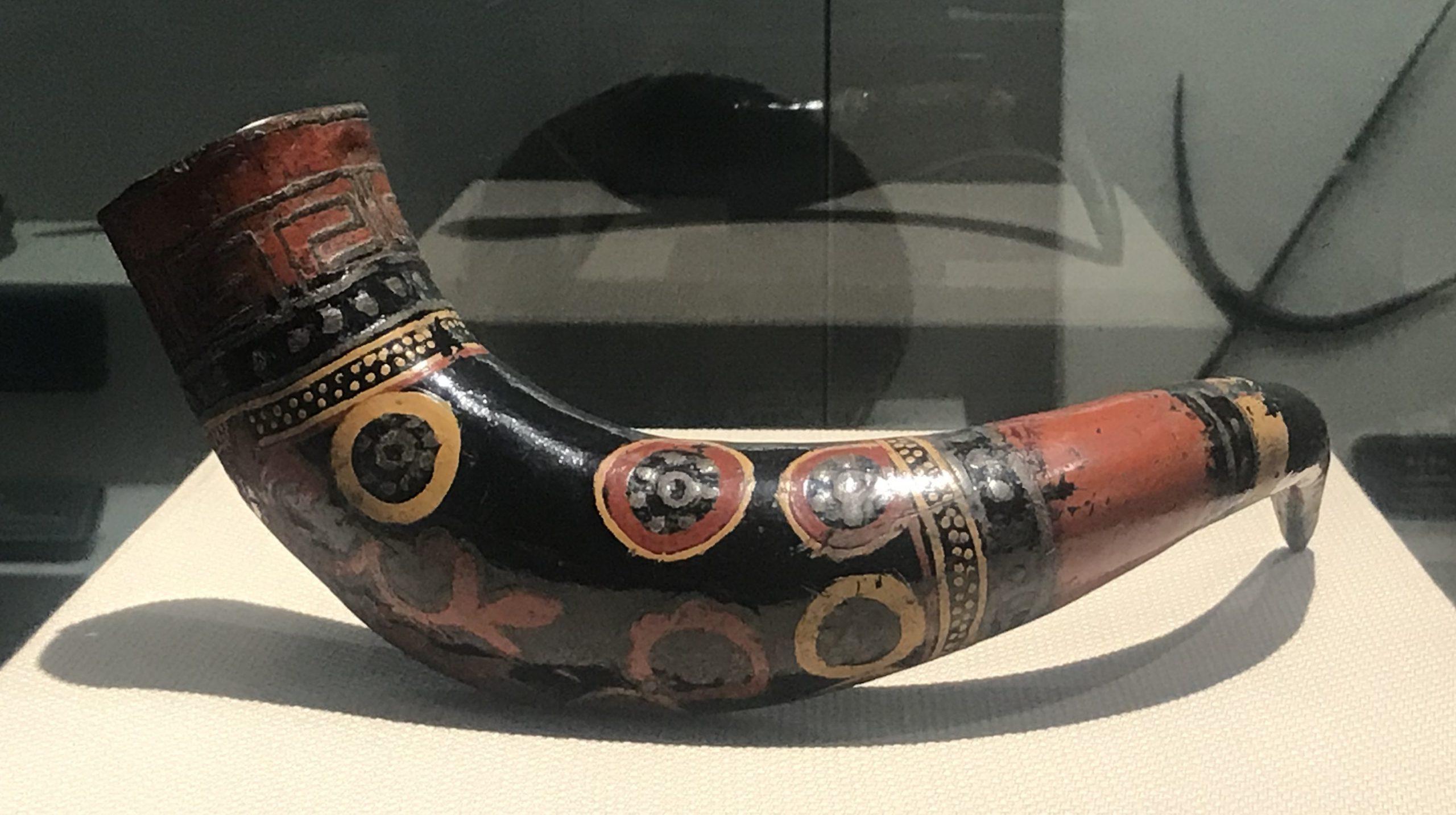 彩絵牛角酒杯-彜族漆器-四川民族文物館-四川博物館-成都