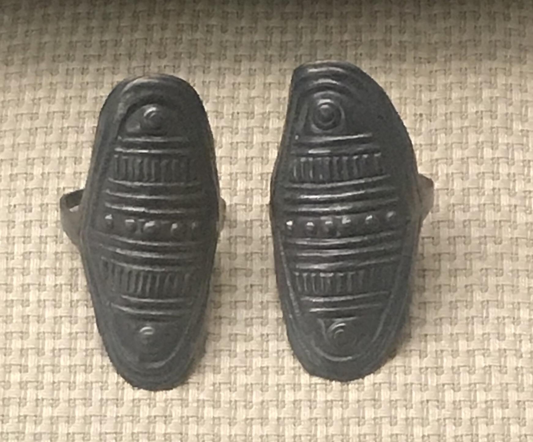 楕円形銀指輪-銀嵌サンゴ指輪-銀嵌ターコイズ指輪-彜族アクセサリー-四川民族文物館-四川博物館-成都