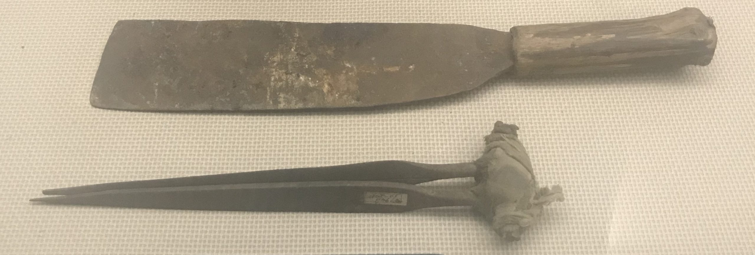 鉄柴刀-羊毛鉄ハサミ-彜族工具-四川民族文物館-四川博物館-成都
