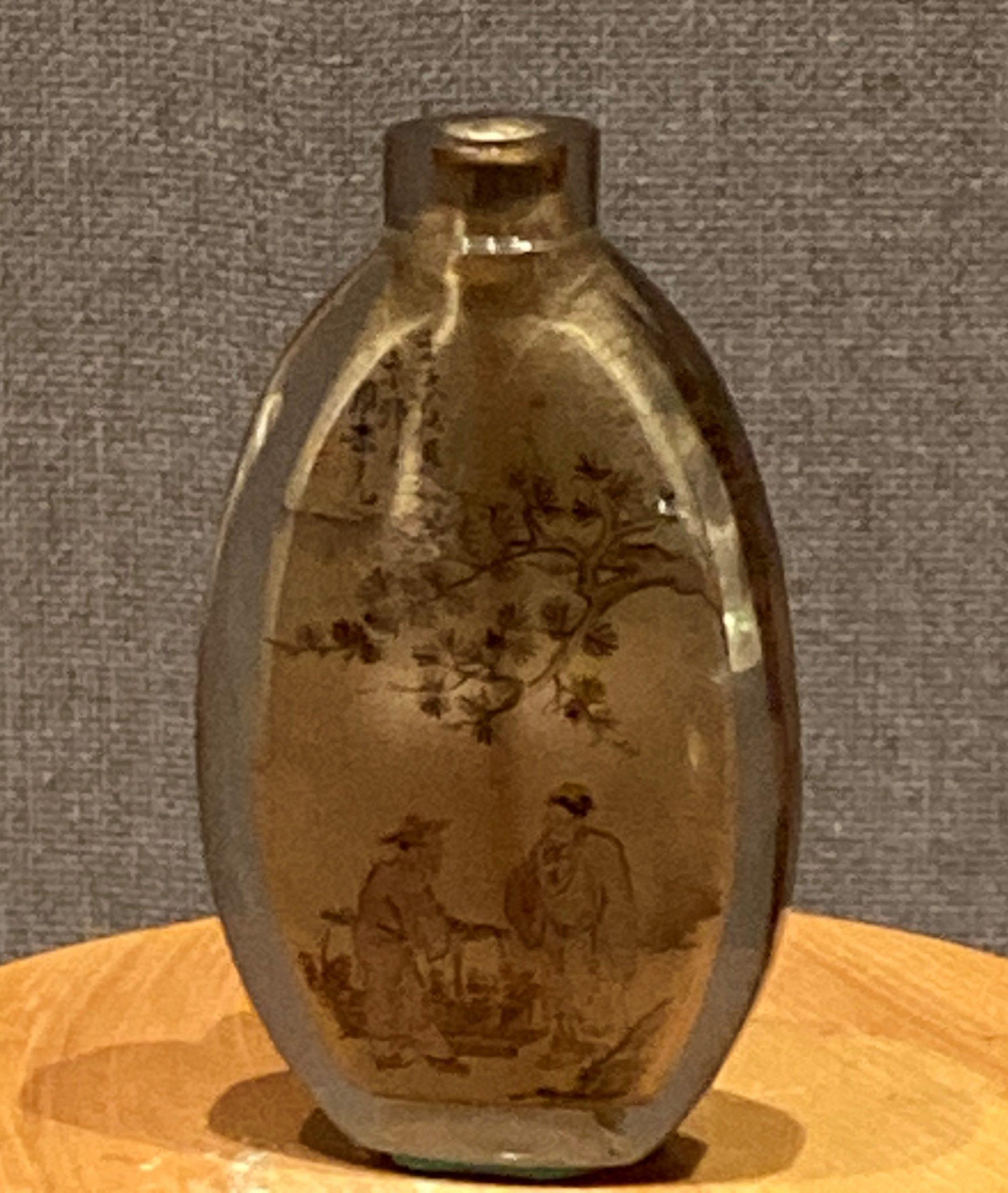 水晶内画鼻煙瓶-清時代-工藝美術館館-四川博物館-成都