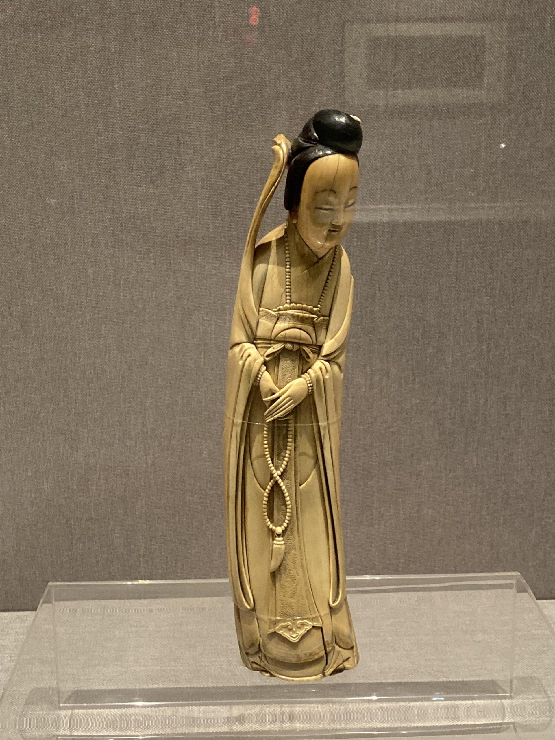 象牙彫仕女図-清代-工藝美術館-四川博物館-成都