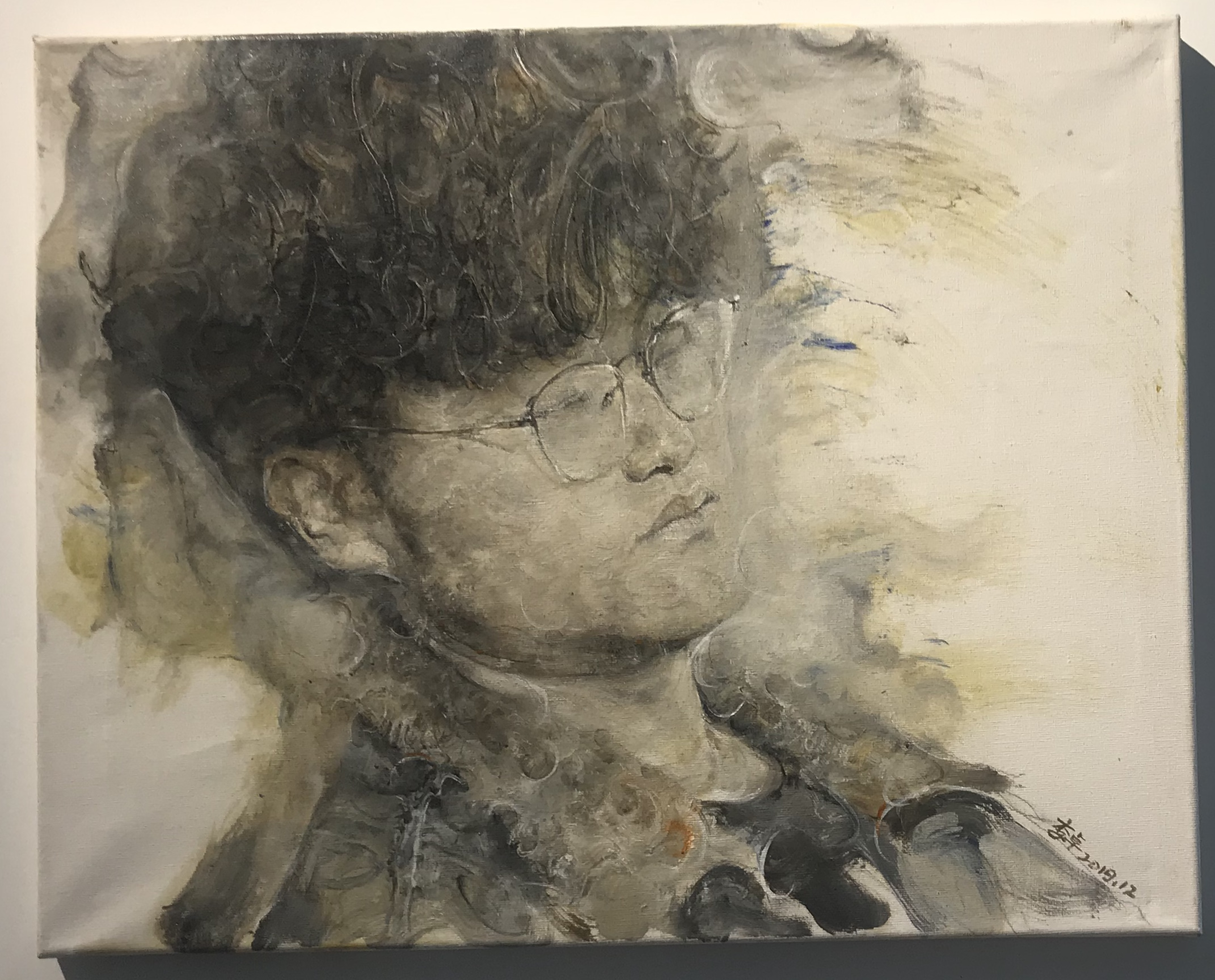 出展画家:李卓-【2020域上和美-夏の招待展】-シーシュポスの岩-成都
