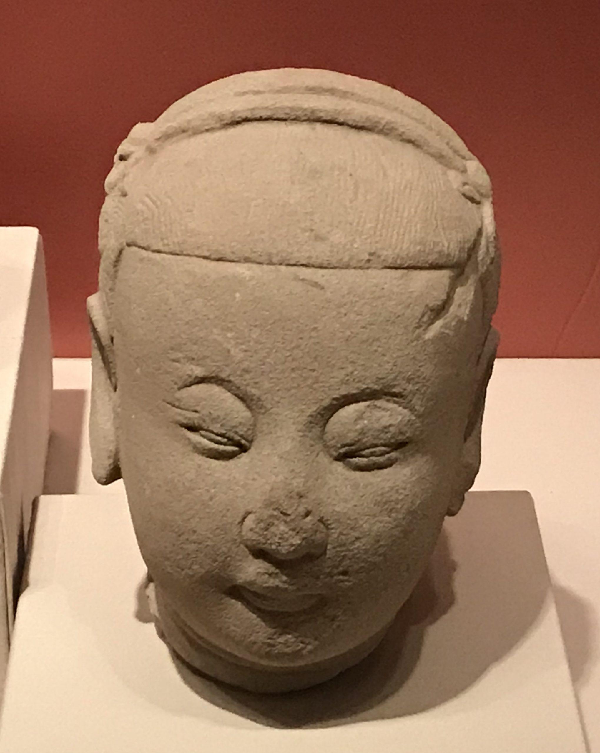 侍女頭像2-明時代-天下の大足-大足石刻の発見と継承-金沙遺跡博物館-成都