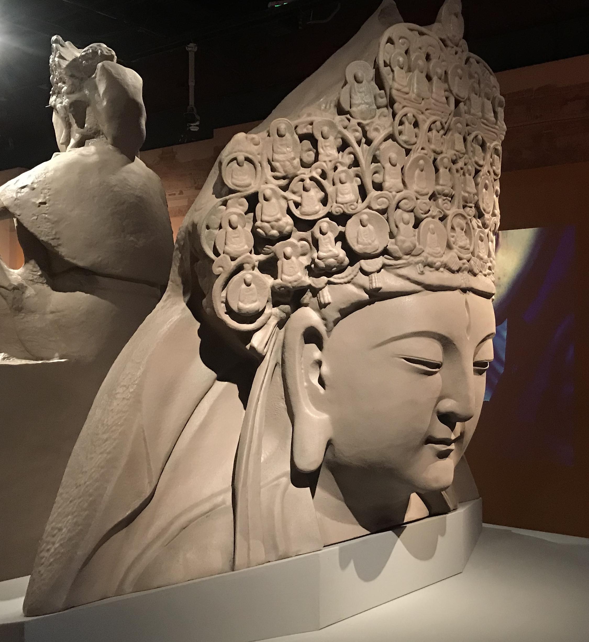 千手観音主尊頭像-3Dプリンター複製-天下の大足-大足石刻の発見と継承-金沙遺跡博物館-成都