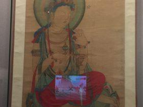 臨摹初唐供養菩薩図軸-張大千芸術館-四川博物院-成都