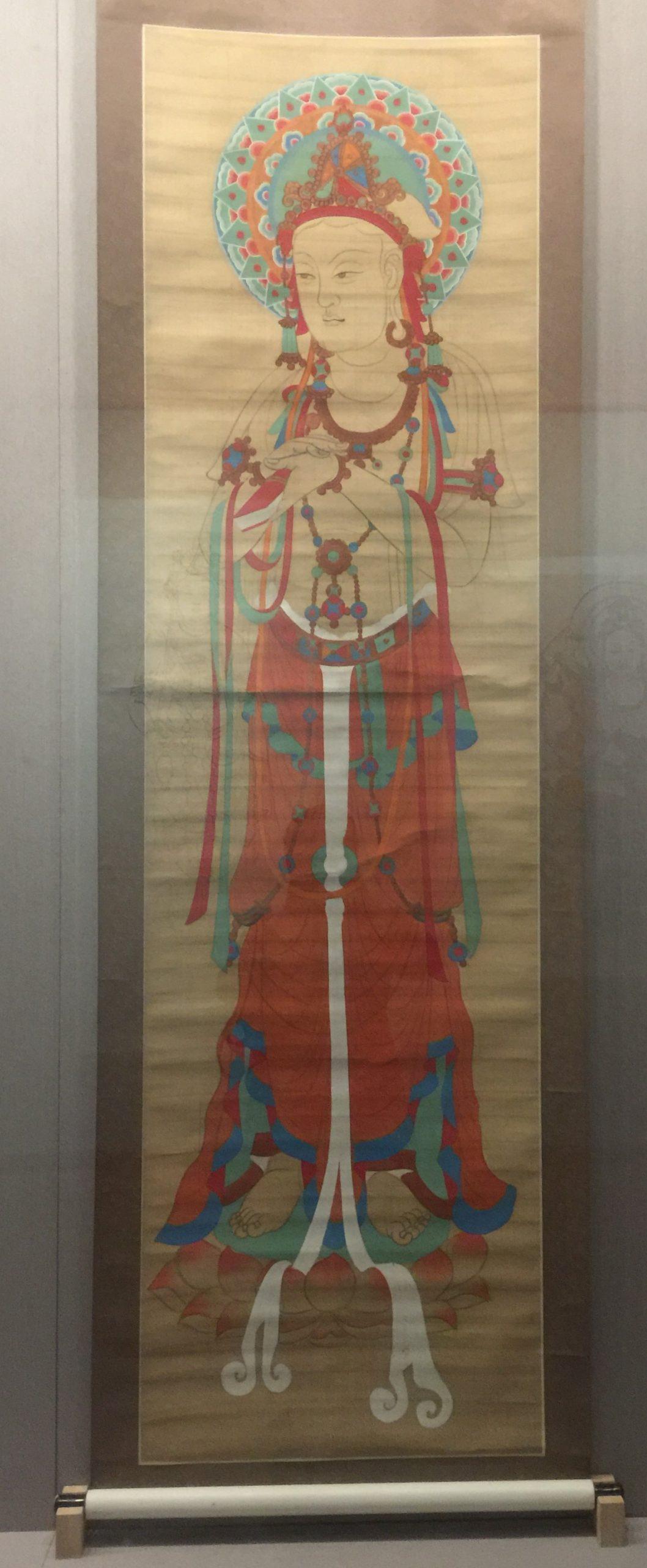臨摹盛唐文殊菩薩像図軸-張大千芸術館-四川博物院-成都