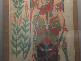 臨摹初唐瓔珞大士像図軸-張大千芸術館-四川博物院-成都