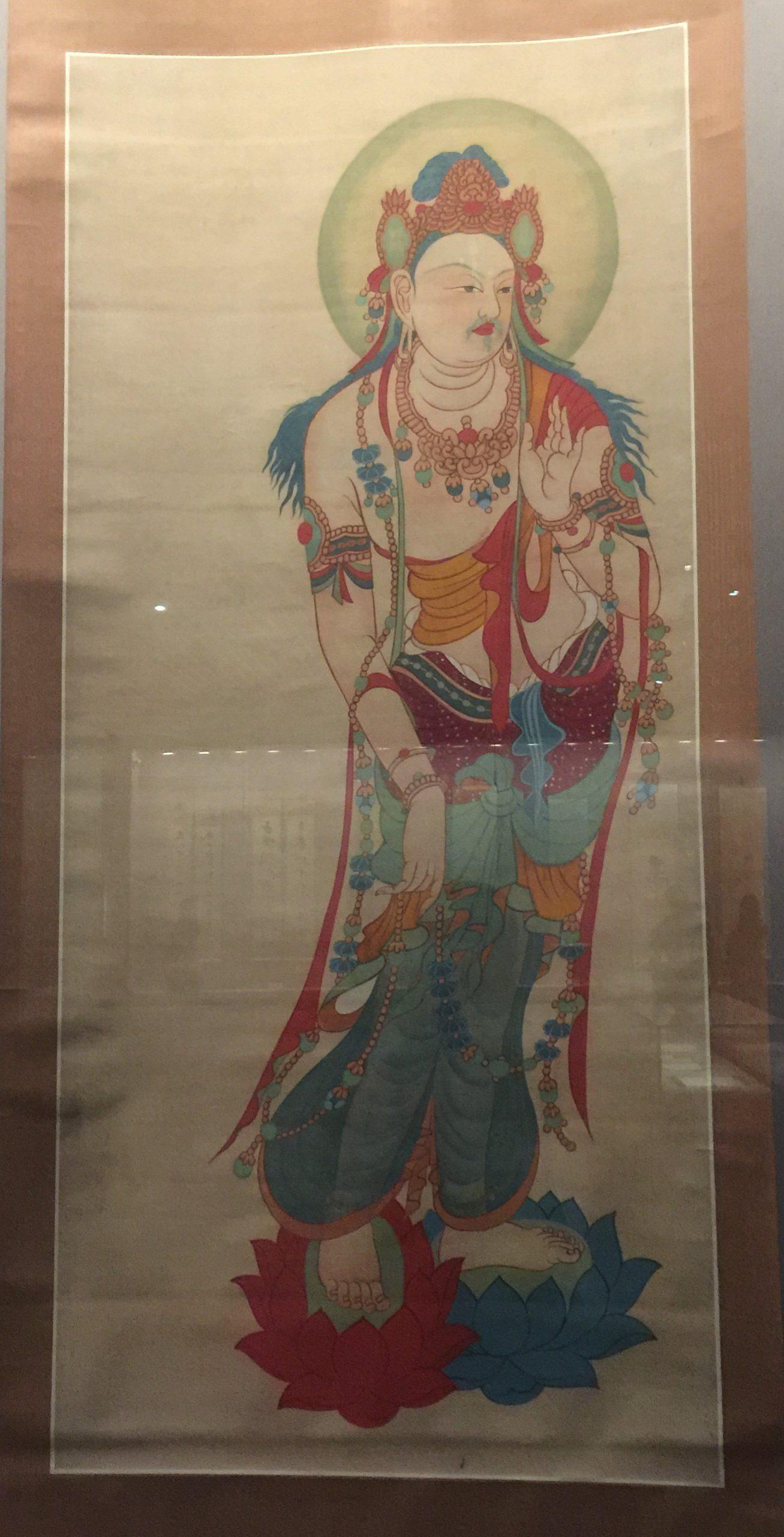 臨摹初唐瓔珞大士図軸-張大千芸術館-四川博物院-成都