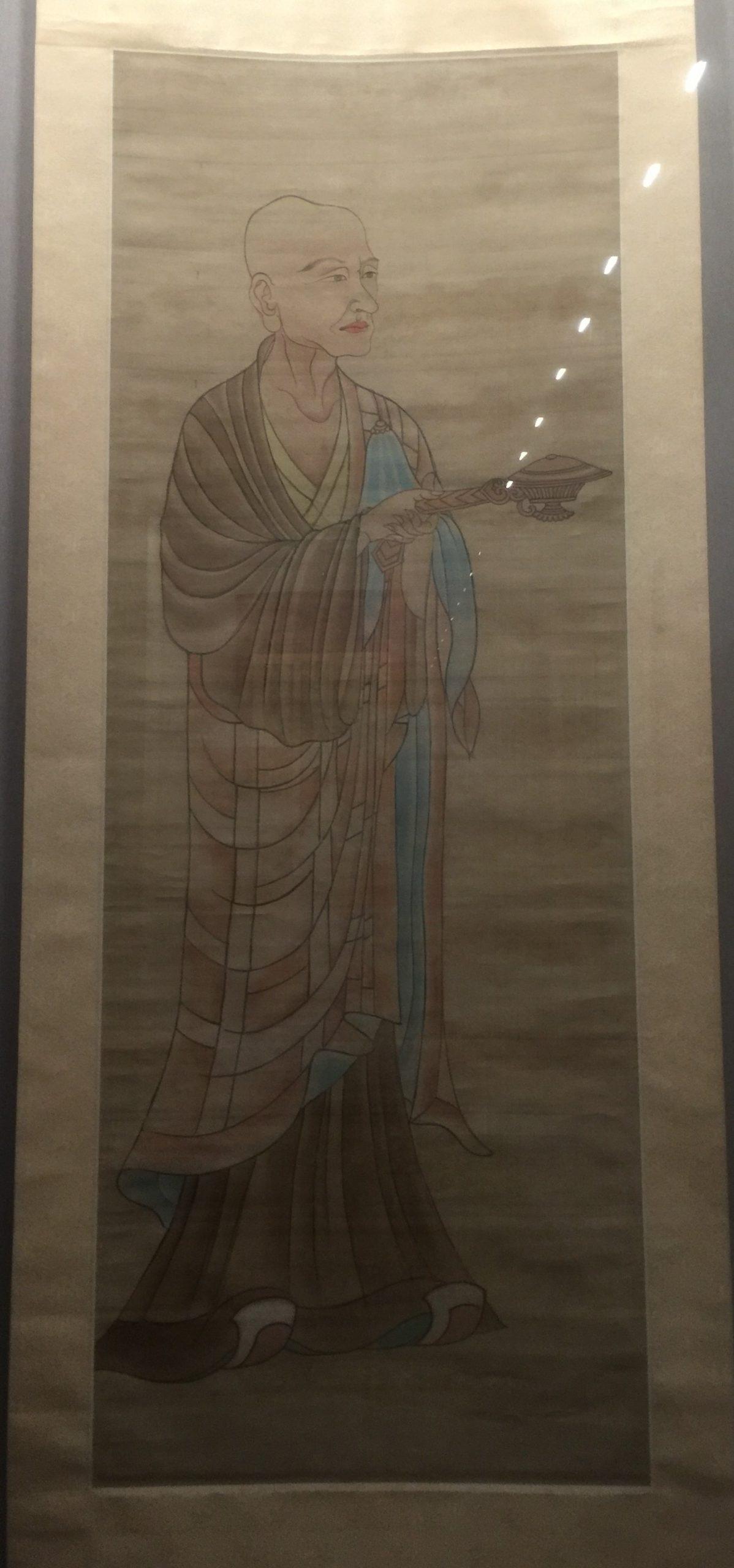 臨摹晩唐比丘像図軸-張大千芸術館-四川博物院-成都