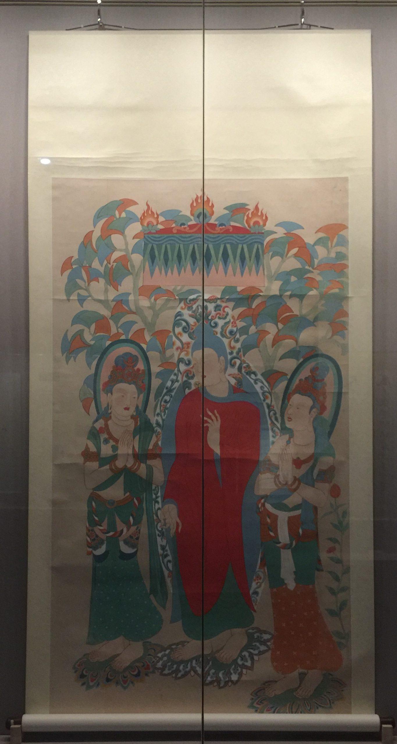 臨摹隋唐間釈迦説法図軸-張大千芸術館-四川博物院-成都