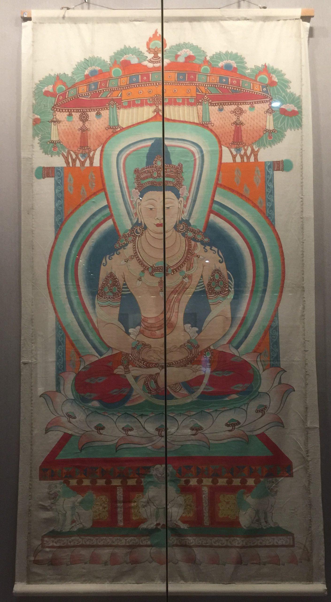 臨中唐・盧舍那仏-張大千芸術館-四川博物院-成都