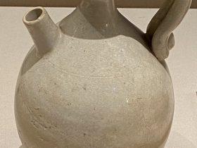 白釉執壺-唐時代-巡回特別展【天歌長歌-唐蕃古道】-四川博物館