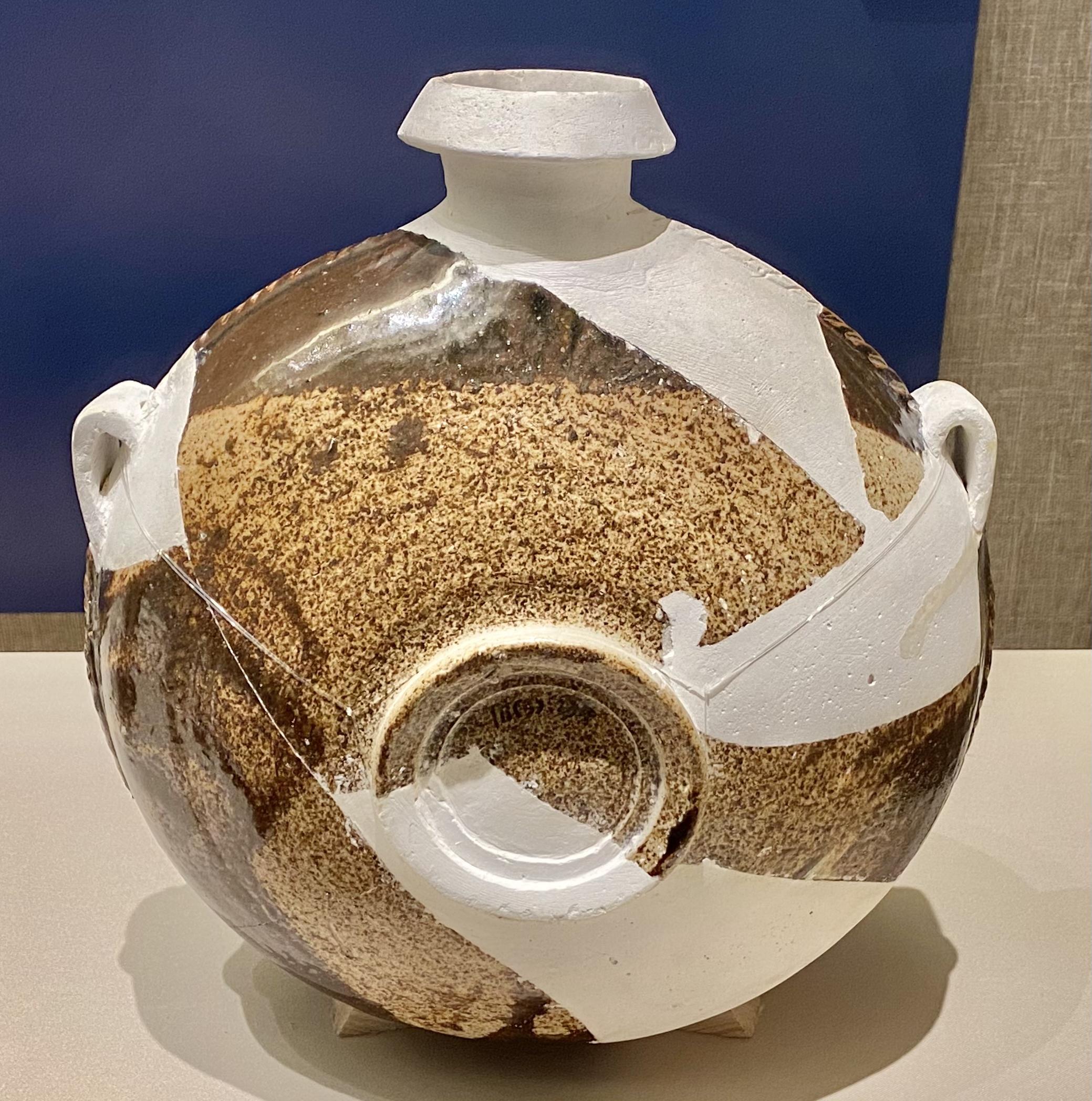 褐釉扁壺-西夏-巡回特別展【天歌長歌-唐蕃古道】-四川博物館