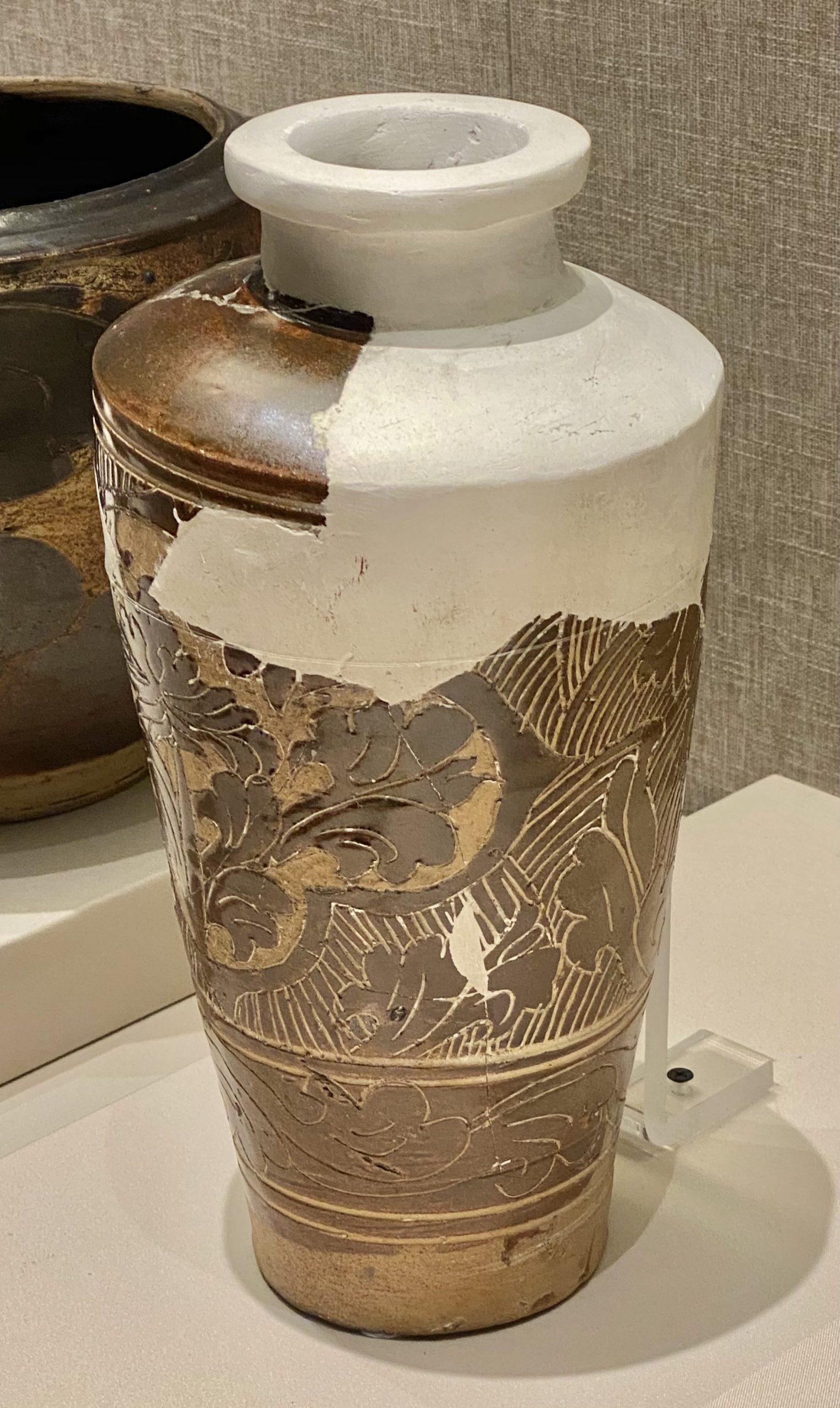 褐釉剔花頚瓶-西夏-巡回特別展【天歌長歌-唐蕃古道】-四川博物館