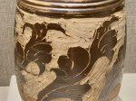 剔花葉形紋褐釉磁缸-西夏-巡回特別展【天歌長歌-唐蕃古道】-四川博物館