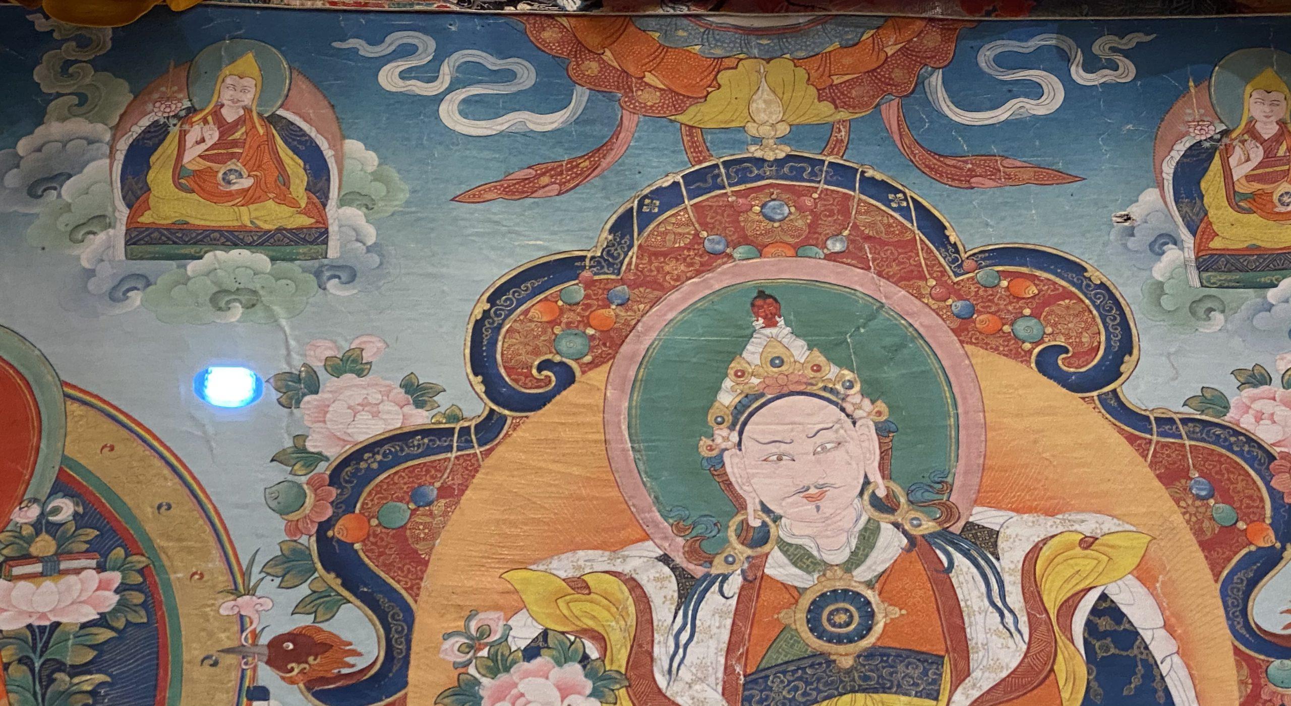 布画祖孫三代法王像-清時代-巡回特別展【天歌長歌-唐蕃古道】-四川博物館